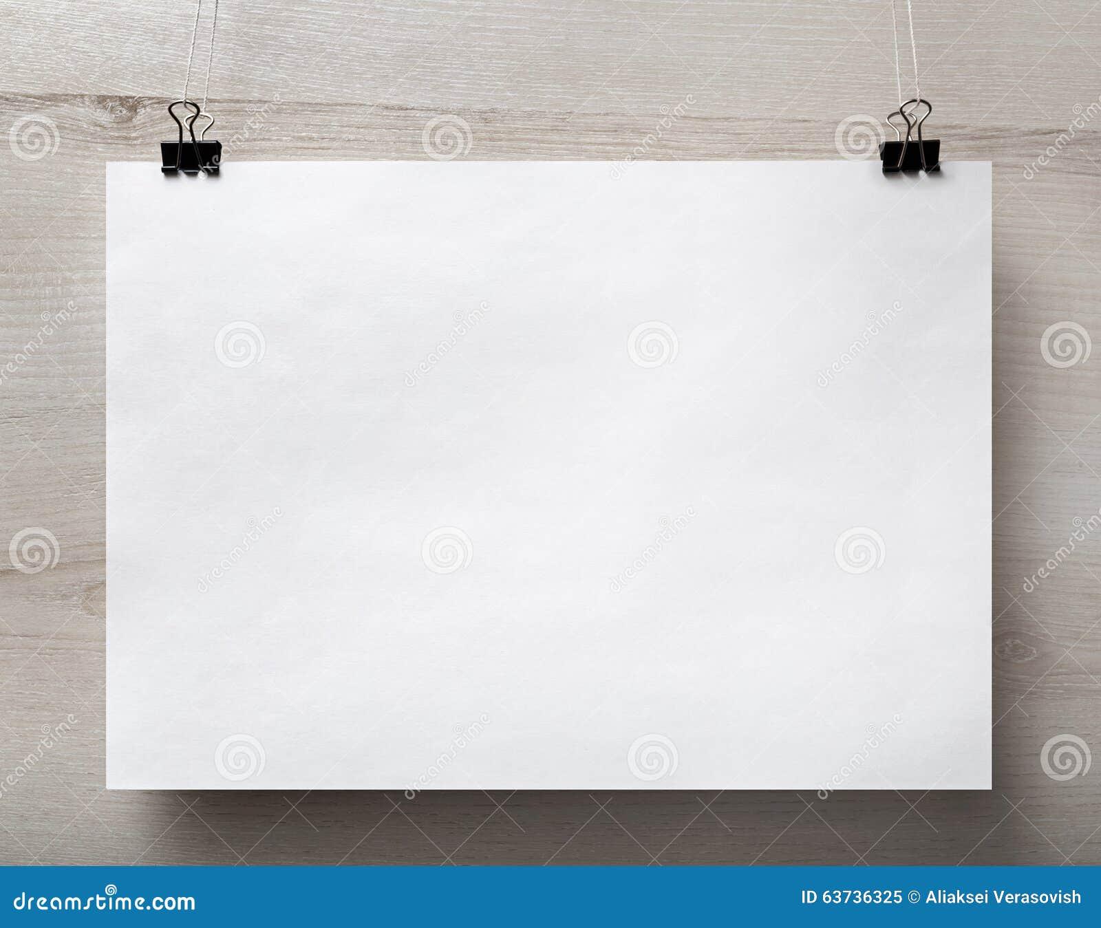Cartaz do papel vazio