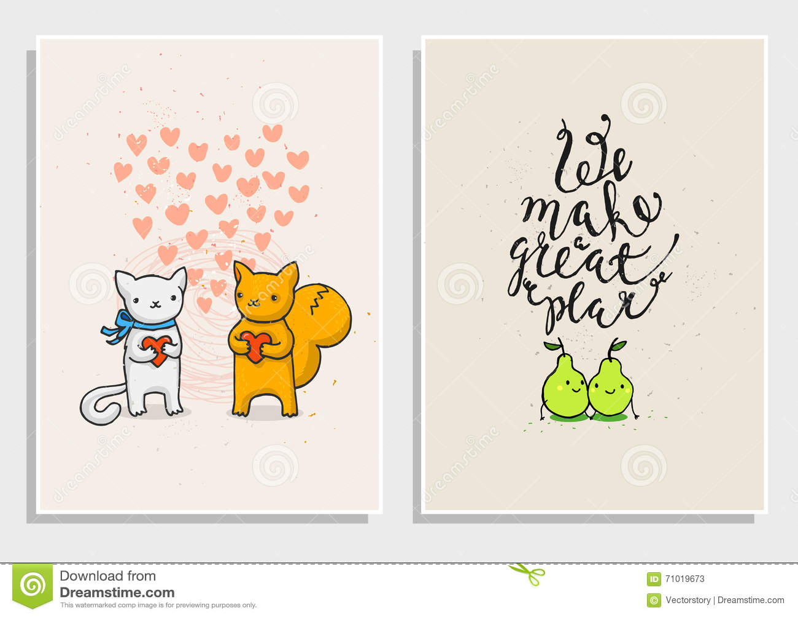 Cartazes Com Frases Engraçadas Sobre O Amor Ilustração Do Vetor