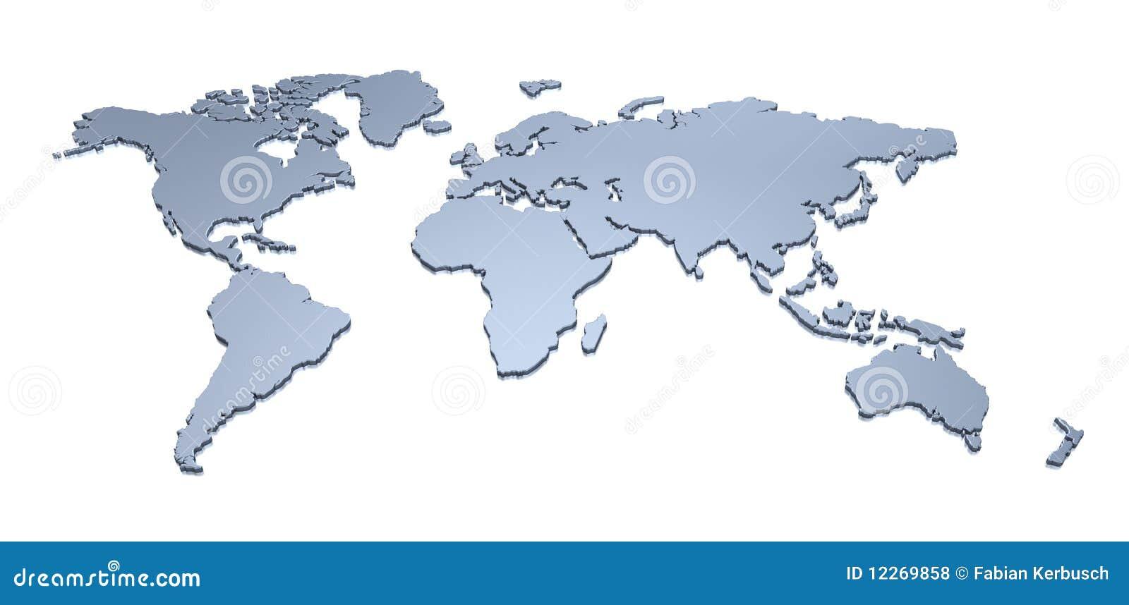 Carte 3D du monde