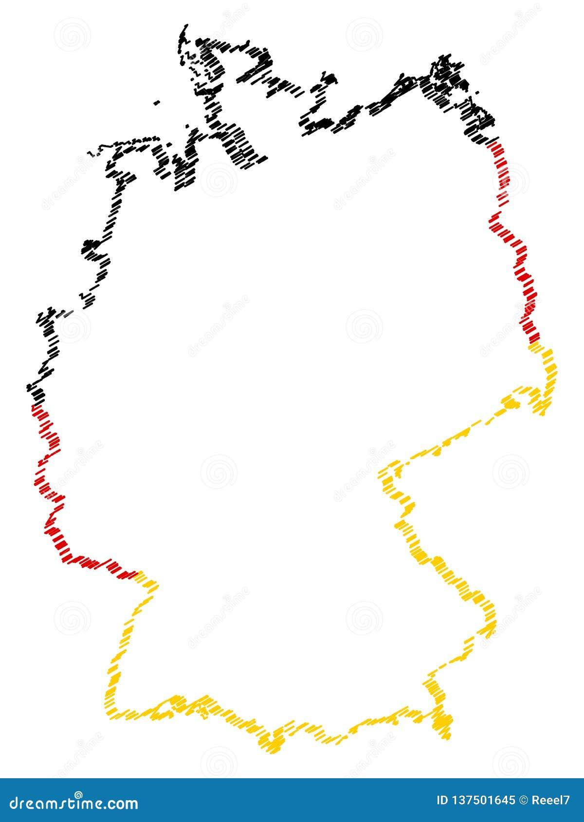 Carte Allemagne Noir Et Blanc.Carte Abstraite Blanche De L Allemagne Avec Une Decoupe De