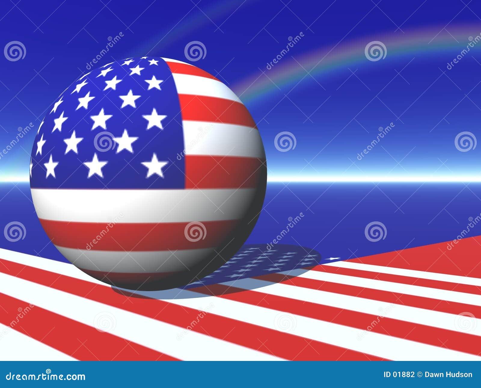 Carte américaine de globe