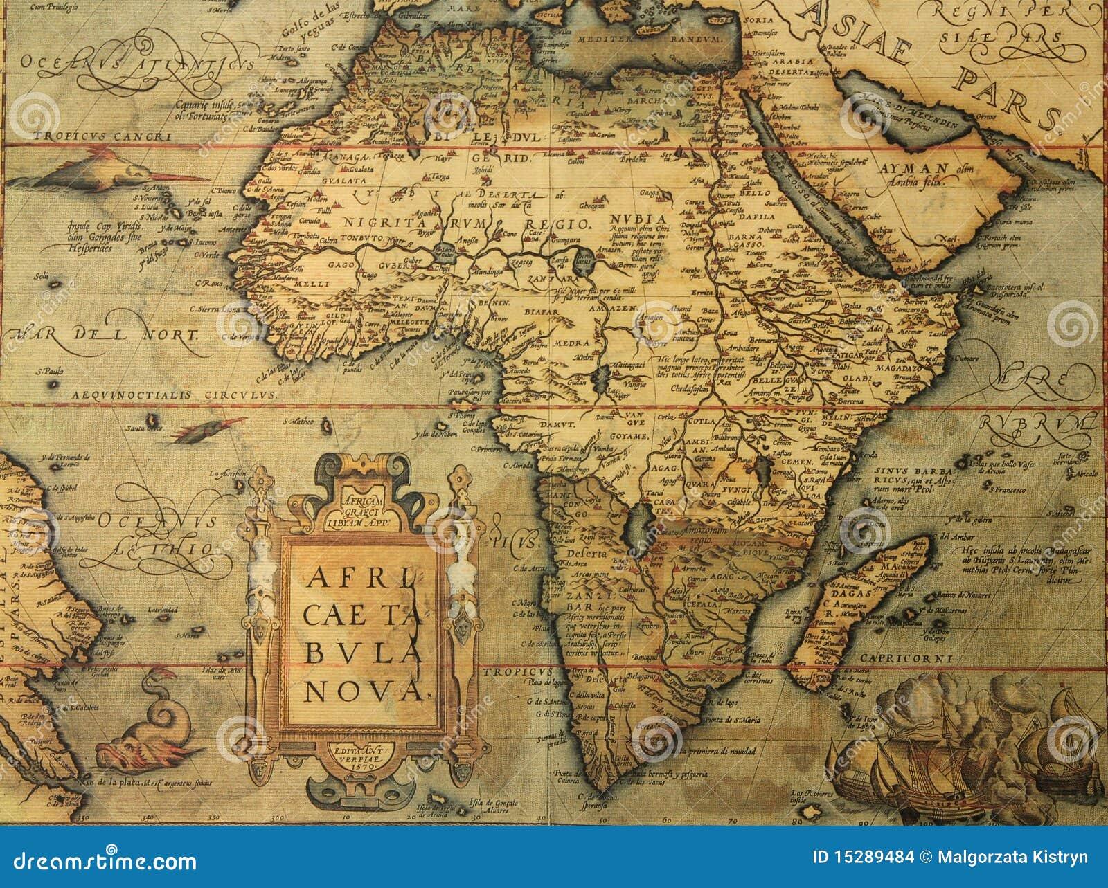 Carte De Lafrique Antique.Carte Antique De L Afrique Photo Stock Image Du Geographie