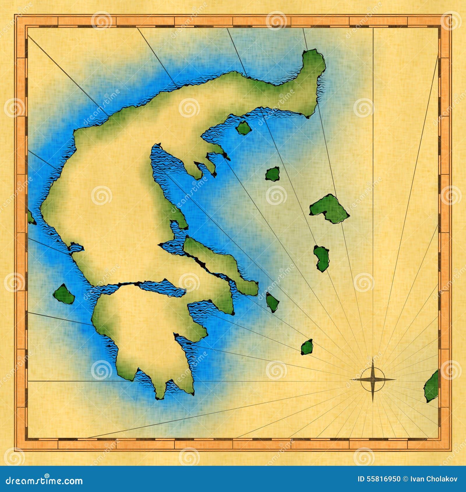 Carte antique de la Grèce