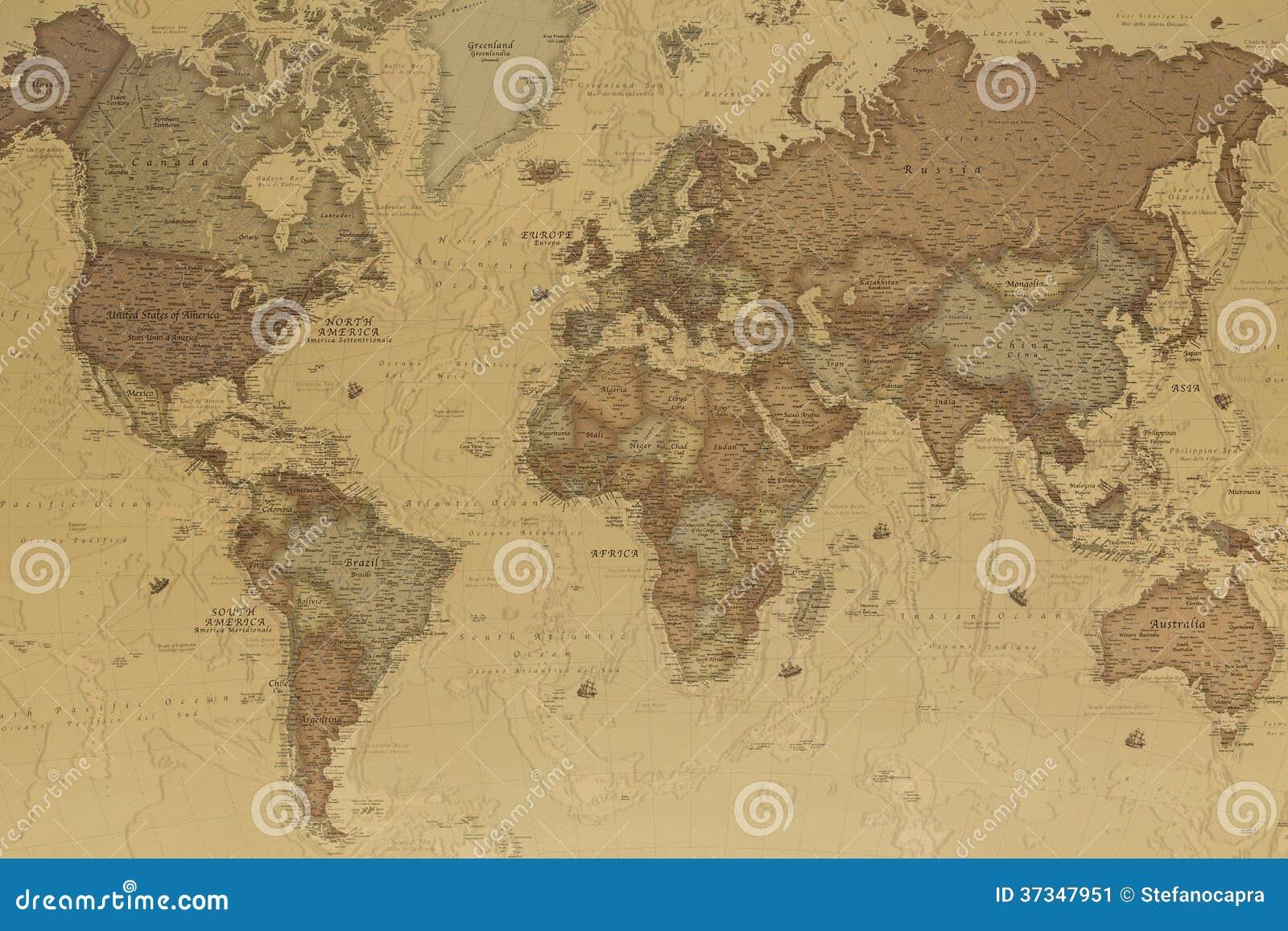 Carte antique du monde