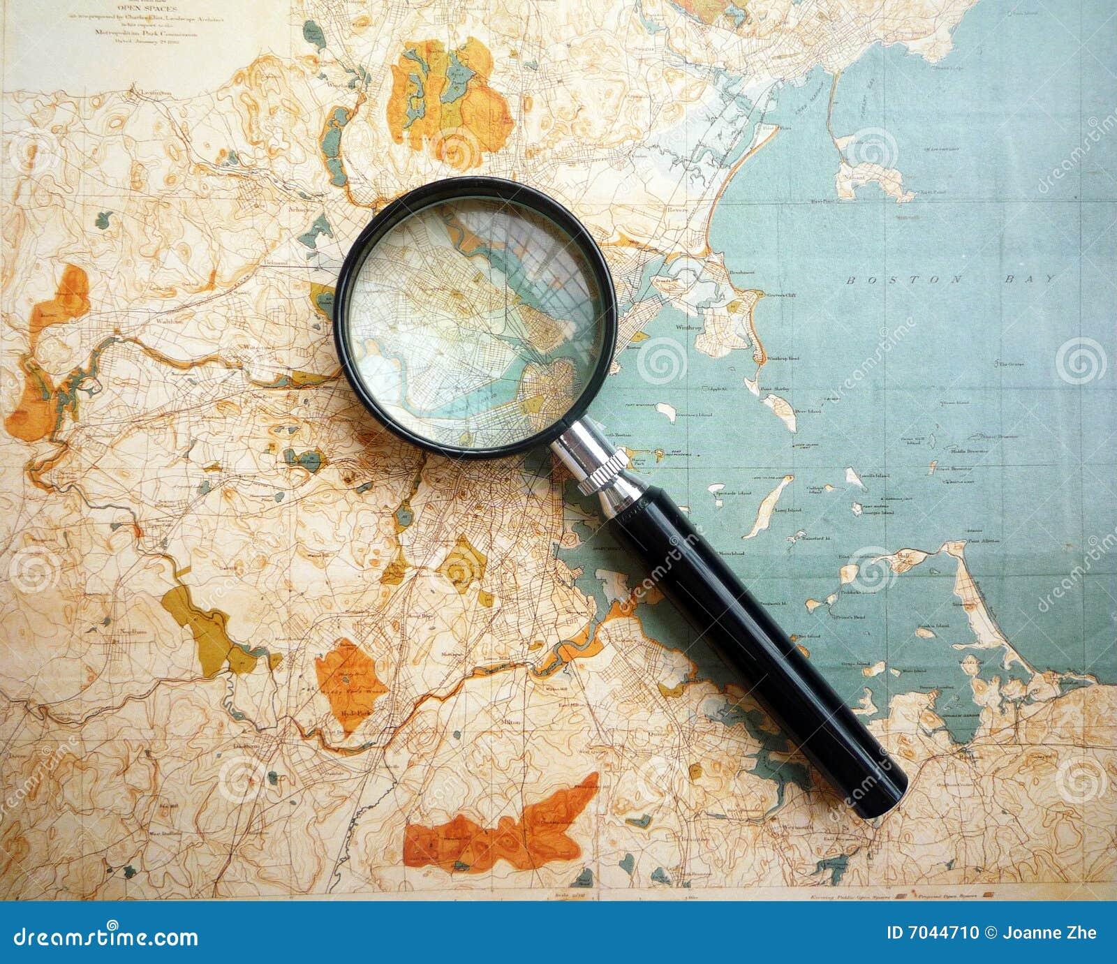 Carte antique topographique
