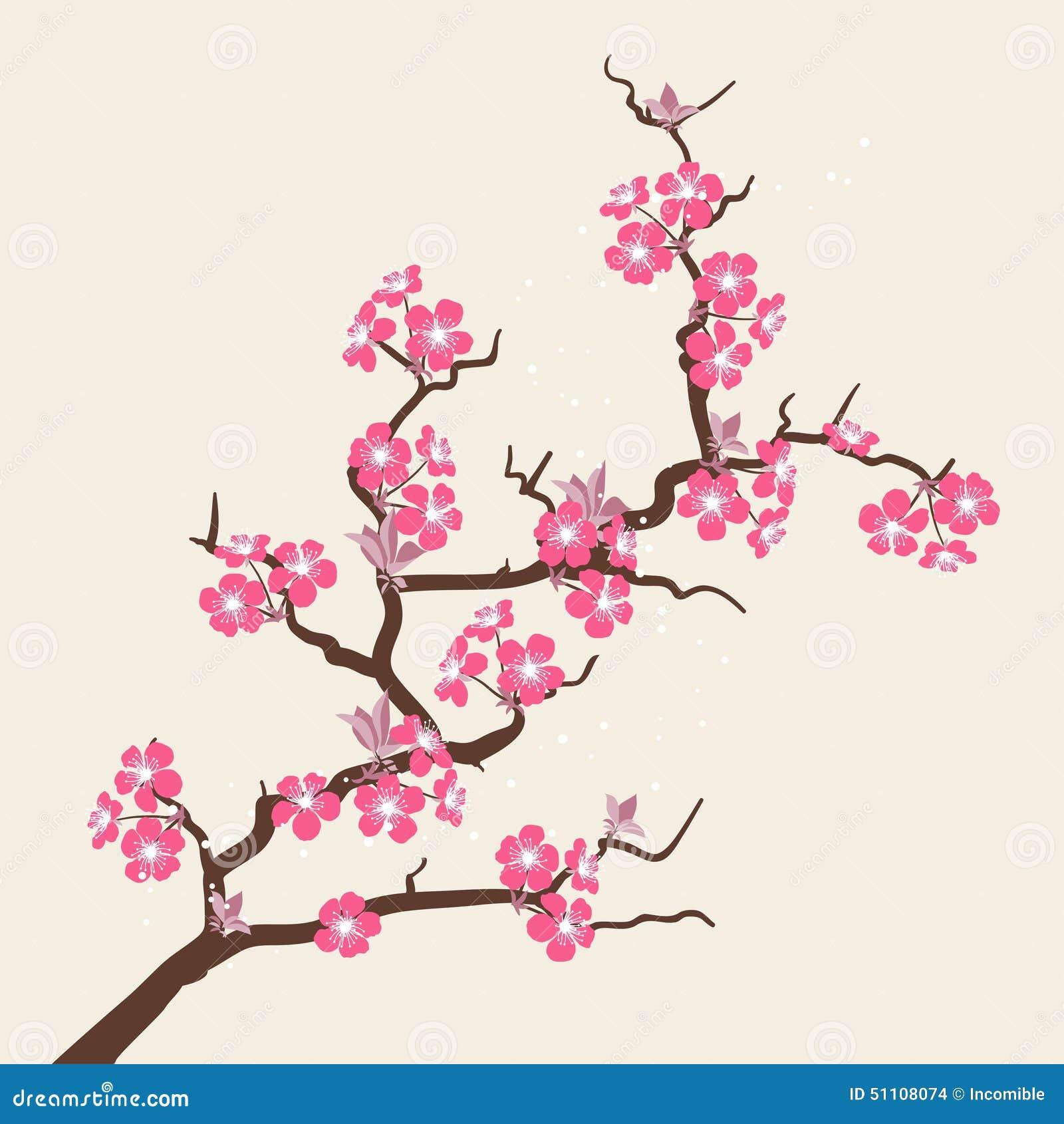 Dessin cerisier japonais fleurs - Cerisier en fleur dessin ...