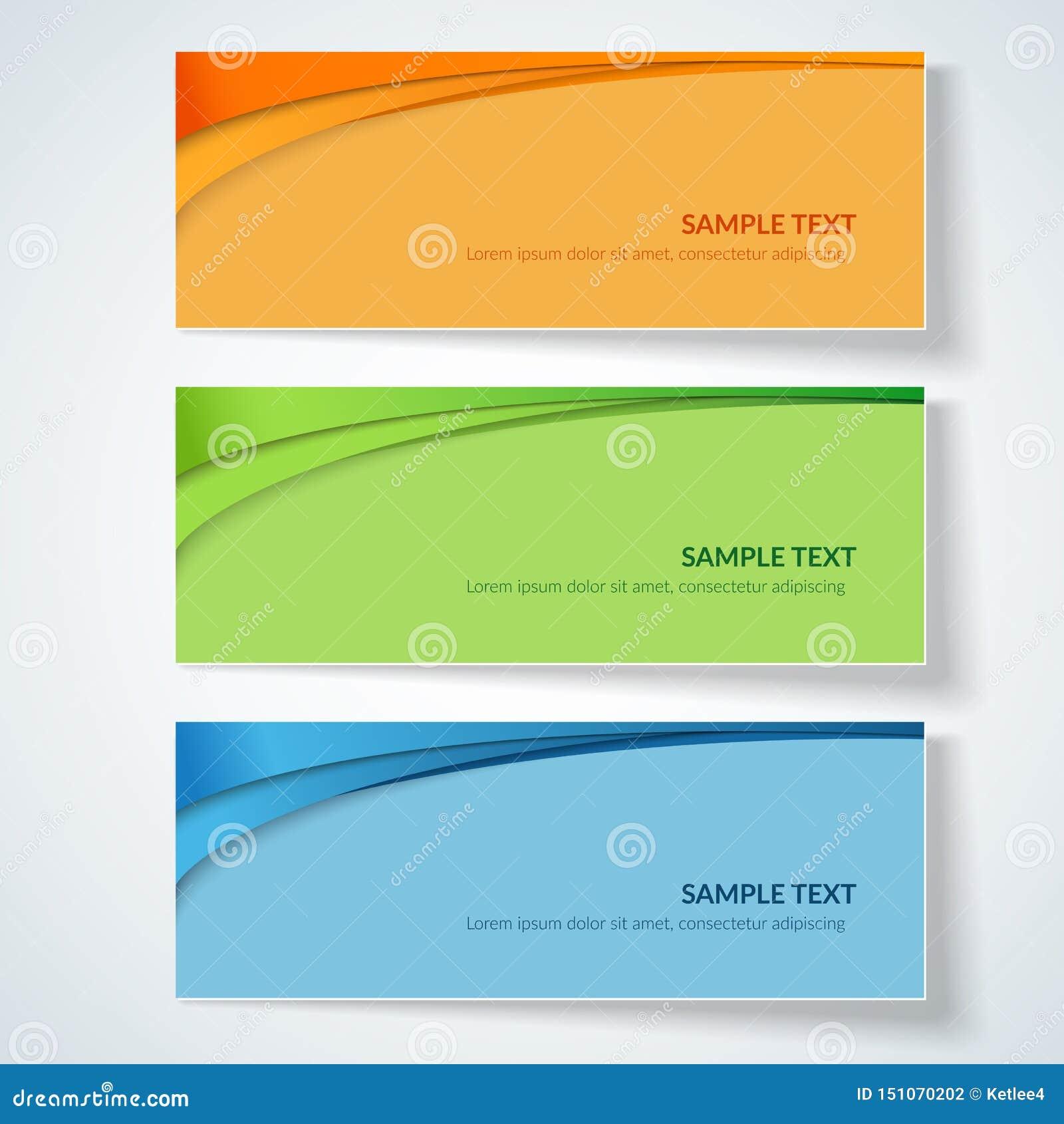 Carte avec les lignes onduleuses abstraites lignes incurvées vertes bleues d orange sur les annonces créatives colorées d un élém