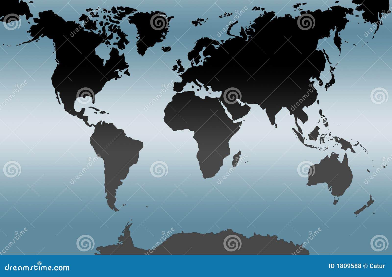 Carte bleue du monde
