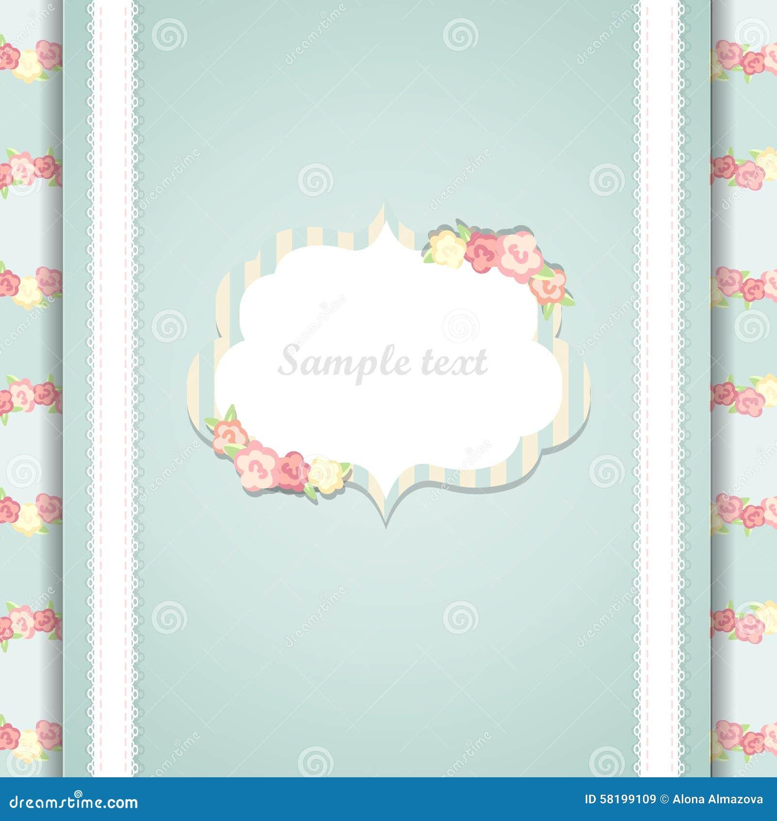 Carte bleue et rose mignonne de joyeux anniversaire