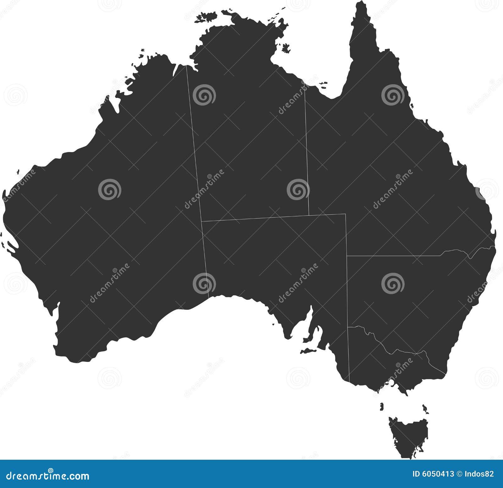Carte borgne de l Australie