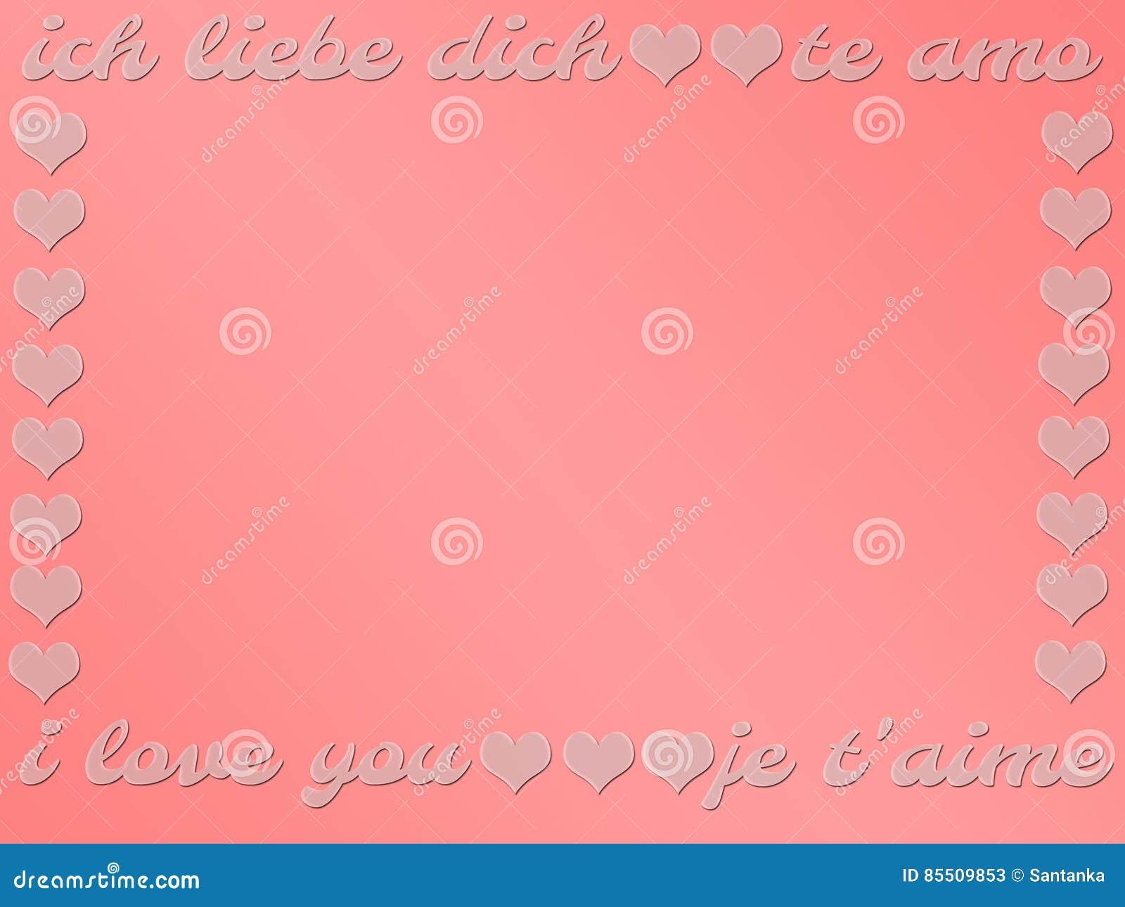 Carte Cadeau En Anglais.Carte Cadeaux D Amour Jour Du S De Valentine Mots Je T Aime
