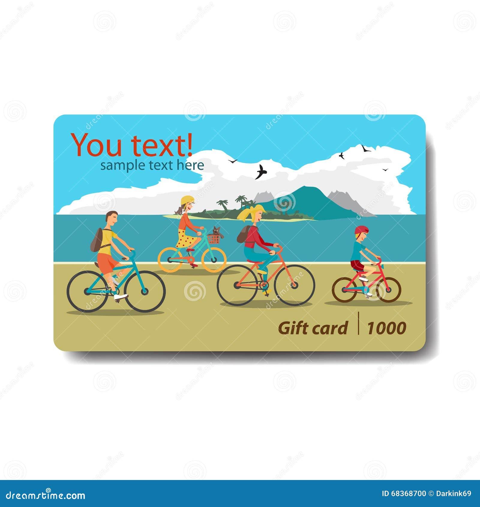 Carte cadeaux del descuento de la venta del verano Diseño de marcado en caliente para el viaje
