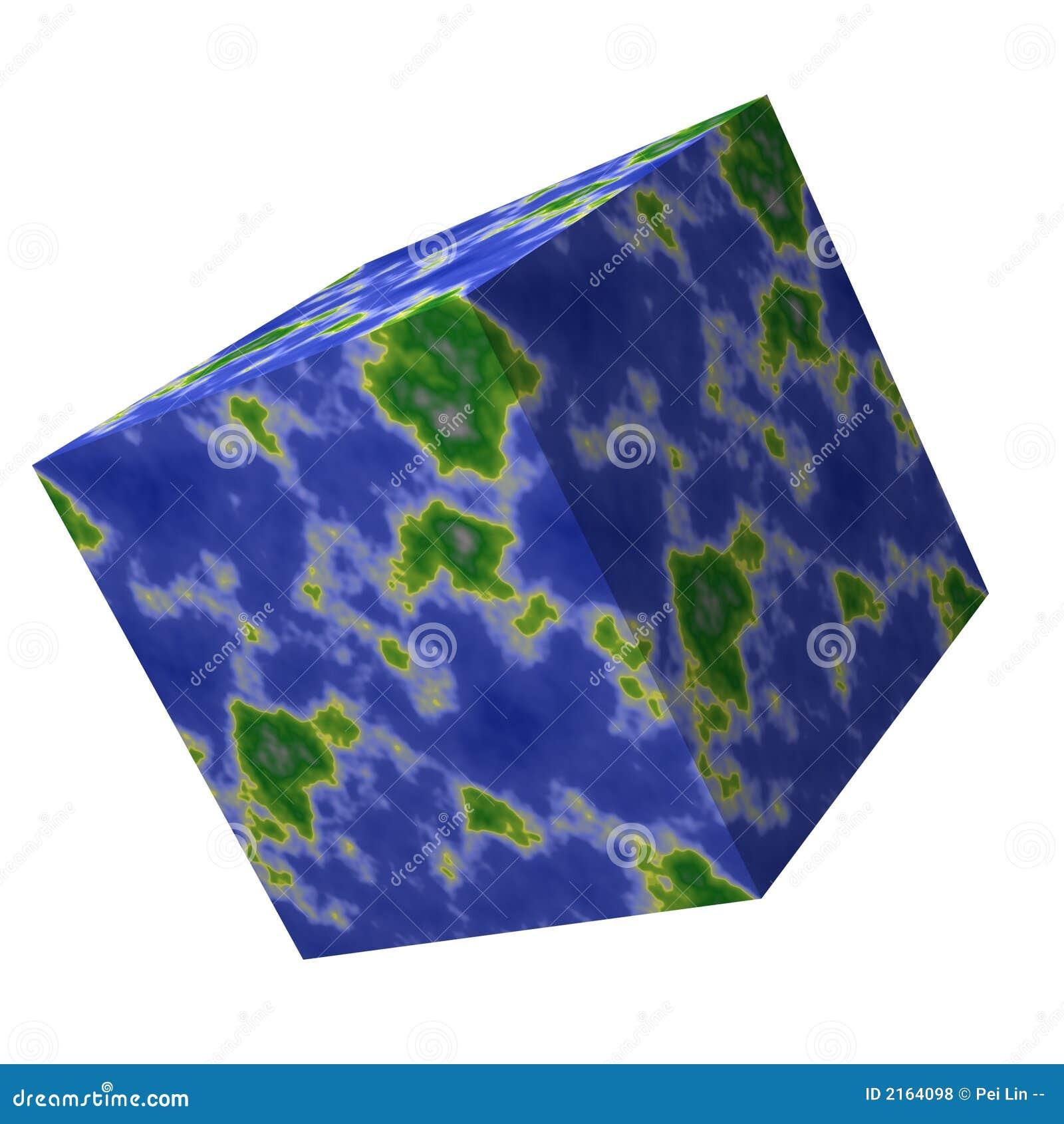 Carte carrée du monde