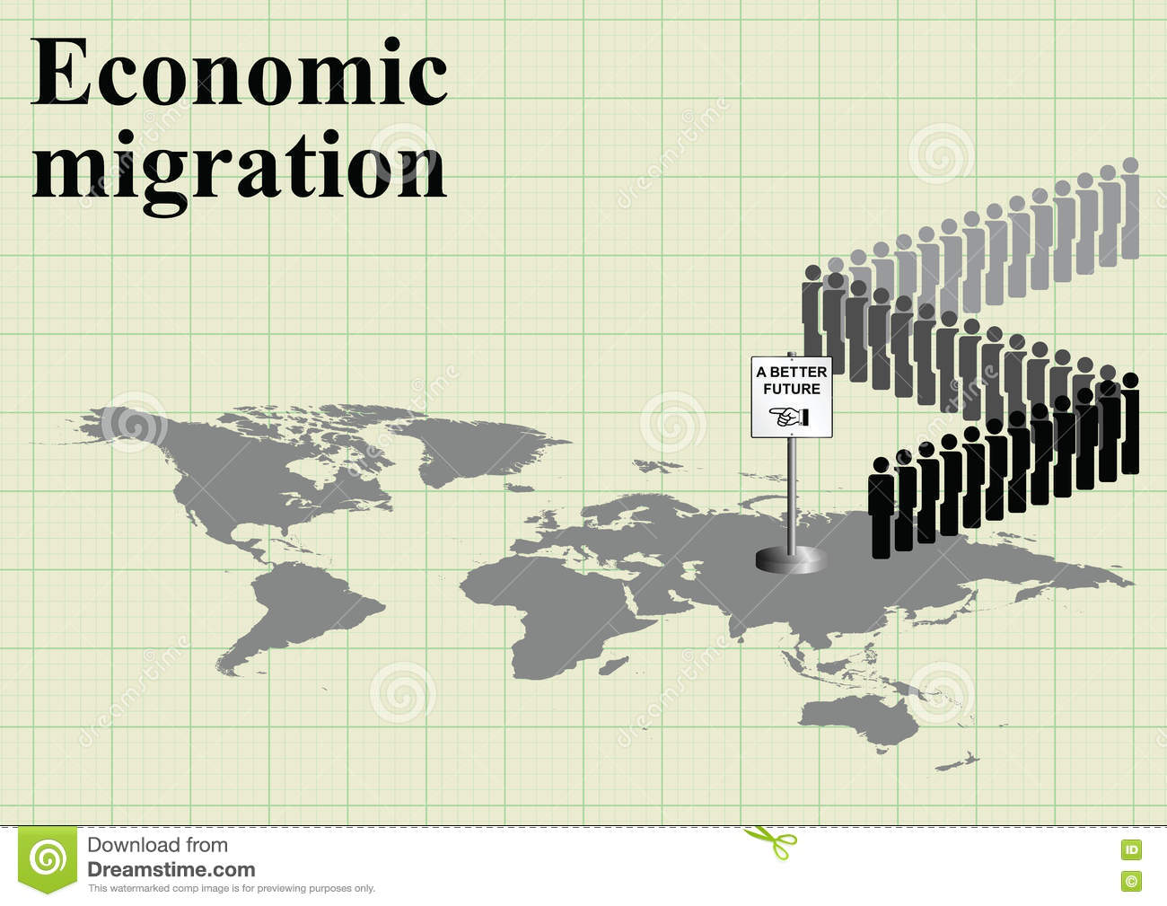 carte conomique du monde de migration illustration de vecteur image 75362682. Black Bedroom Furniture Sets. Home Design Ideas