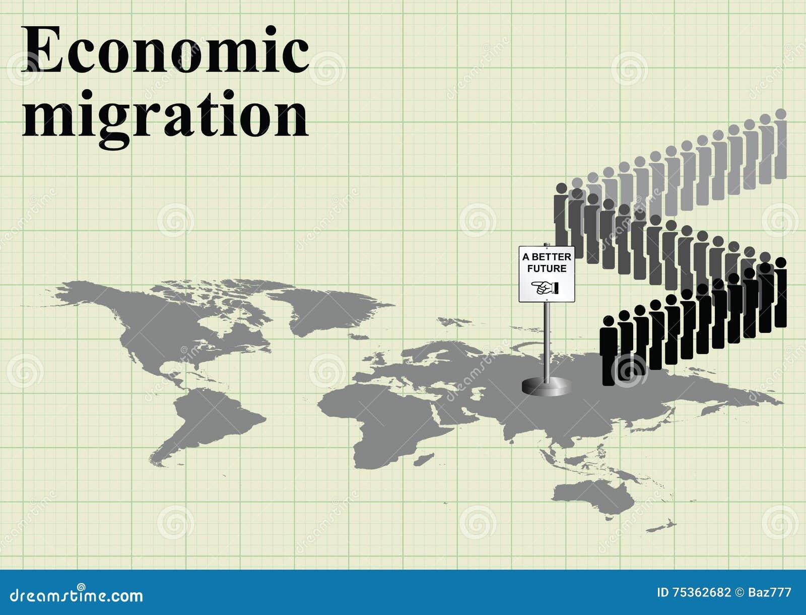 carte conomique du monde de migration illustration de vecteur image 75362682. Black Bedroom Furniture Sets. Home Design Ideas
