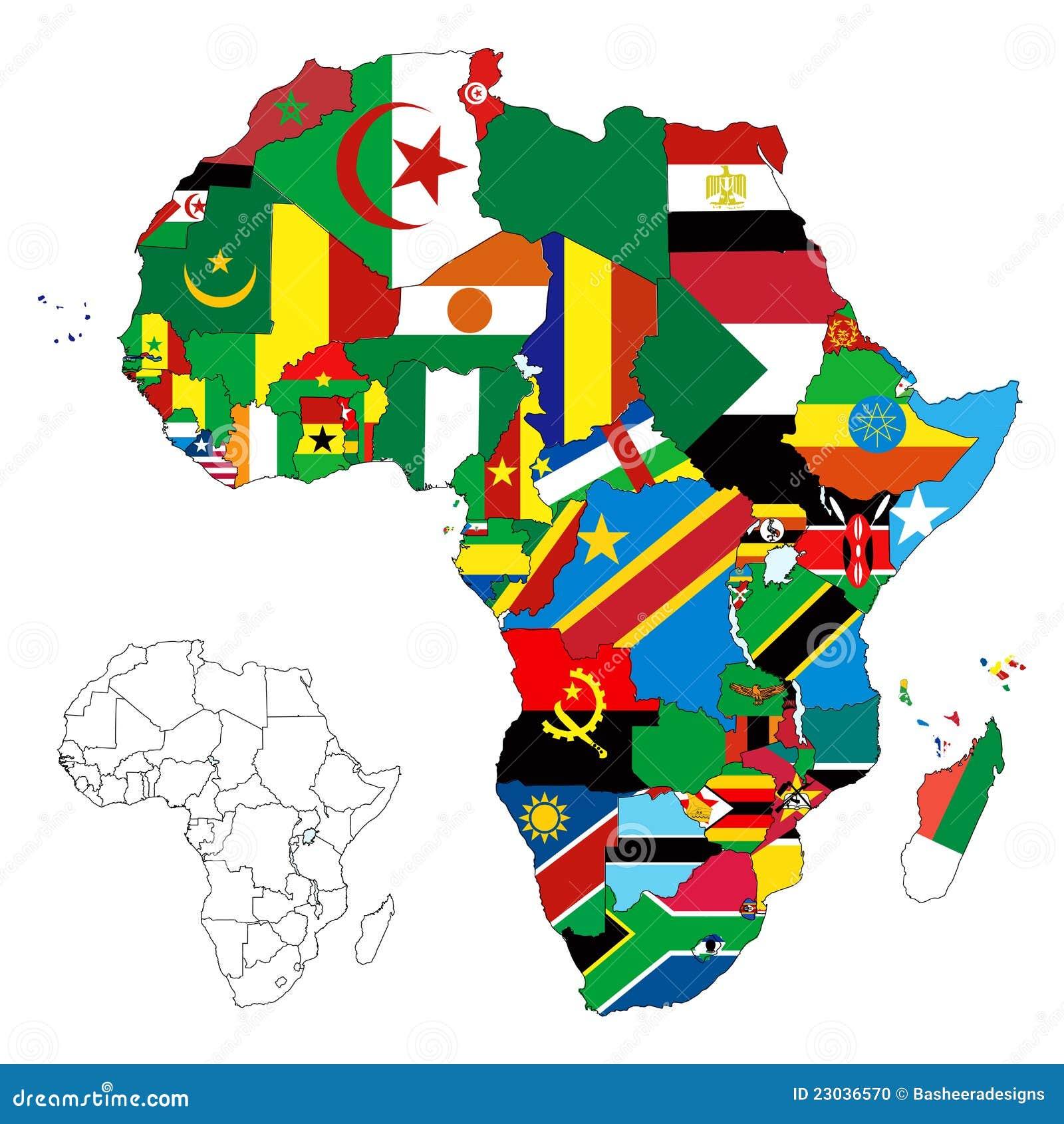 Carte continente d indicateur de l Afrique