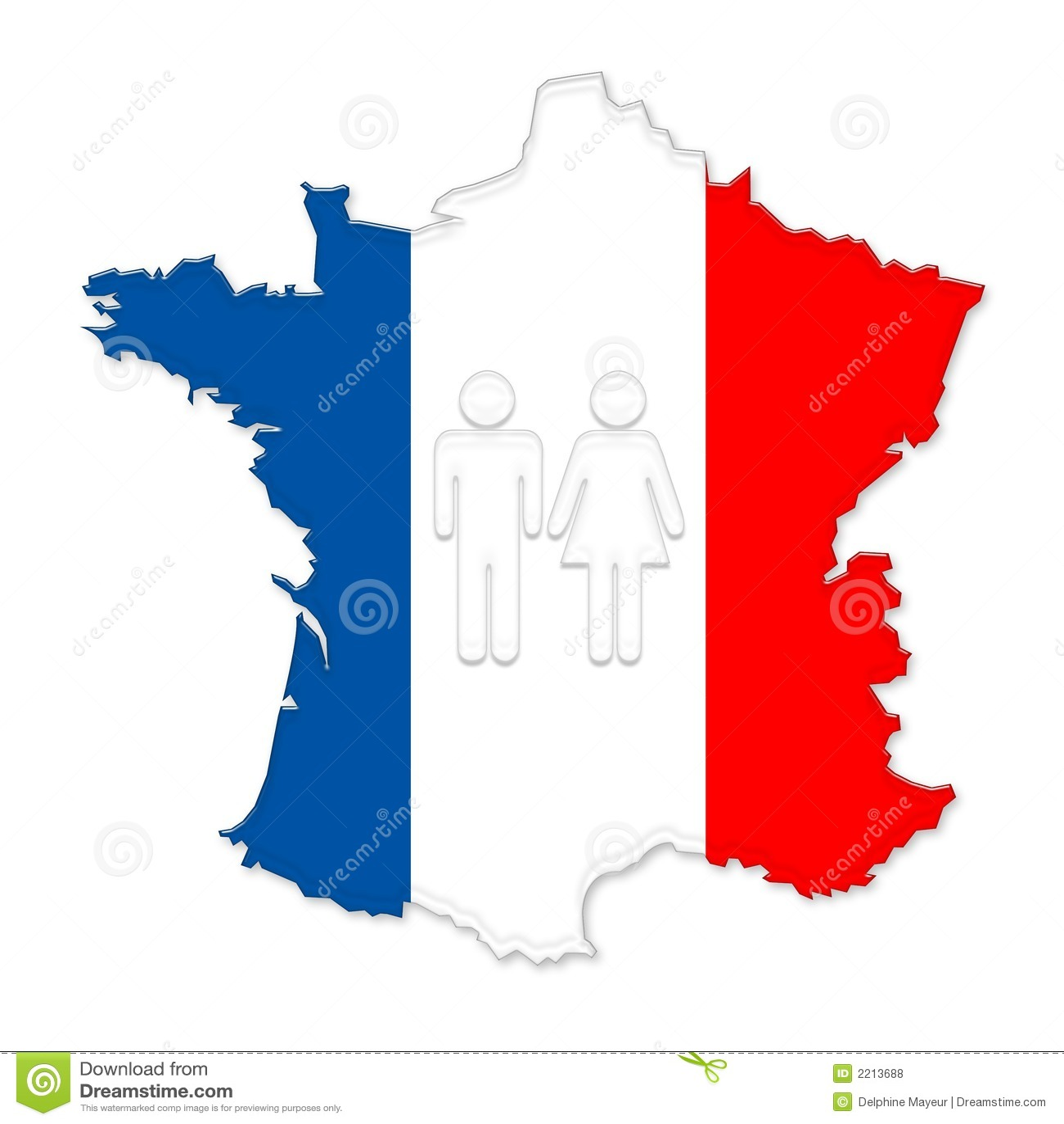 Carte couleur et gens de la france photos libres de droits image 2213688 - Couleur preferee des francais ...