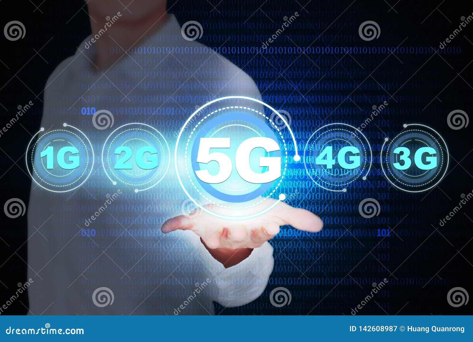 Carte créative de concept du développement 5G, données mobiles sans fil ultra-rapides