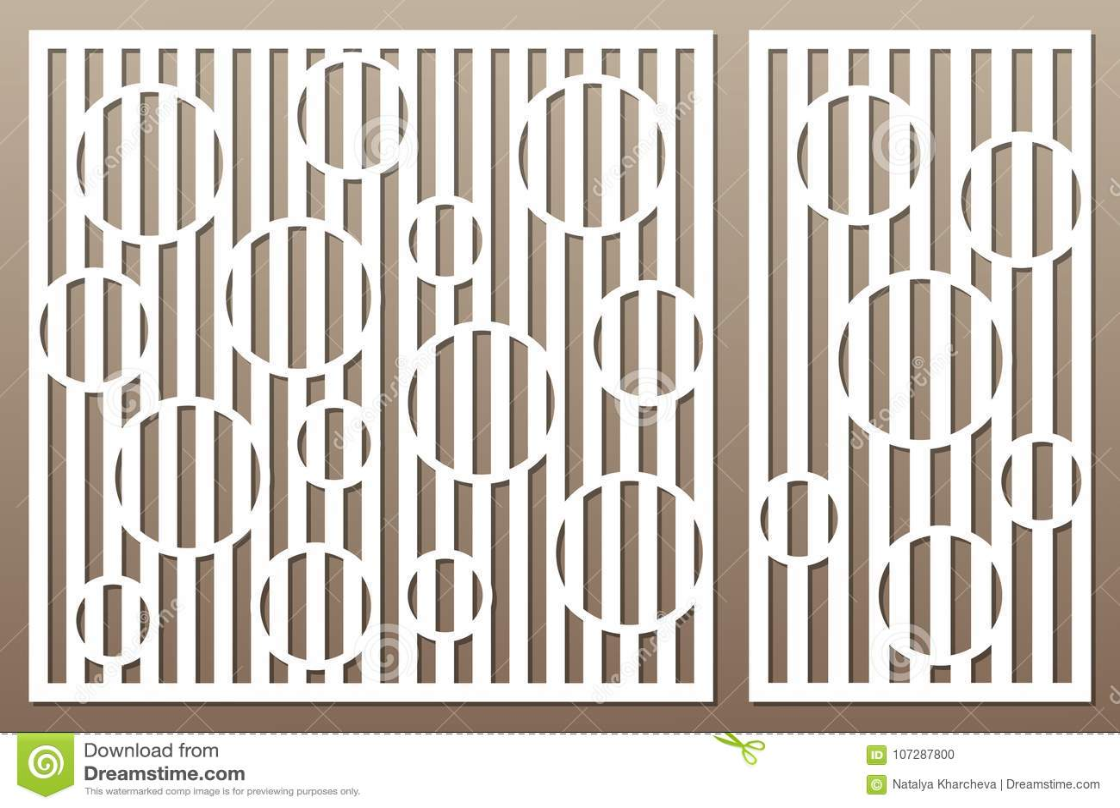 Carte décorative réglée pour la coupure Ligne modèle de cercle Coupe de laser