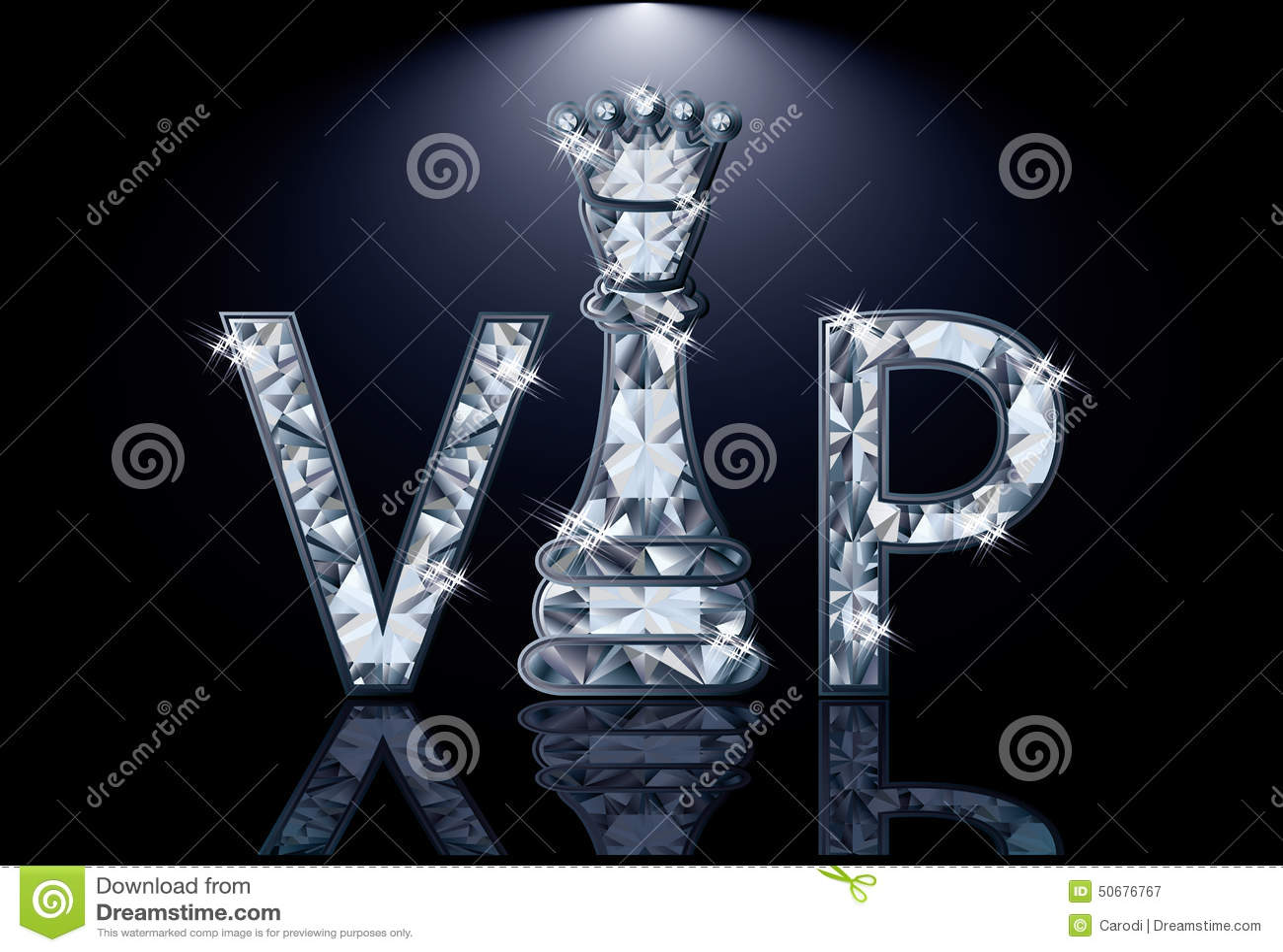 Carte d échecs des diamants VIP