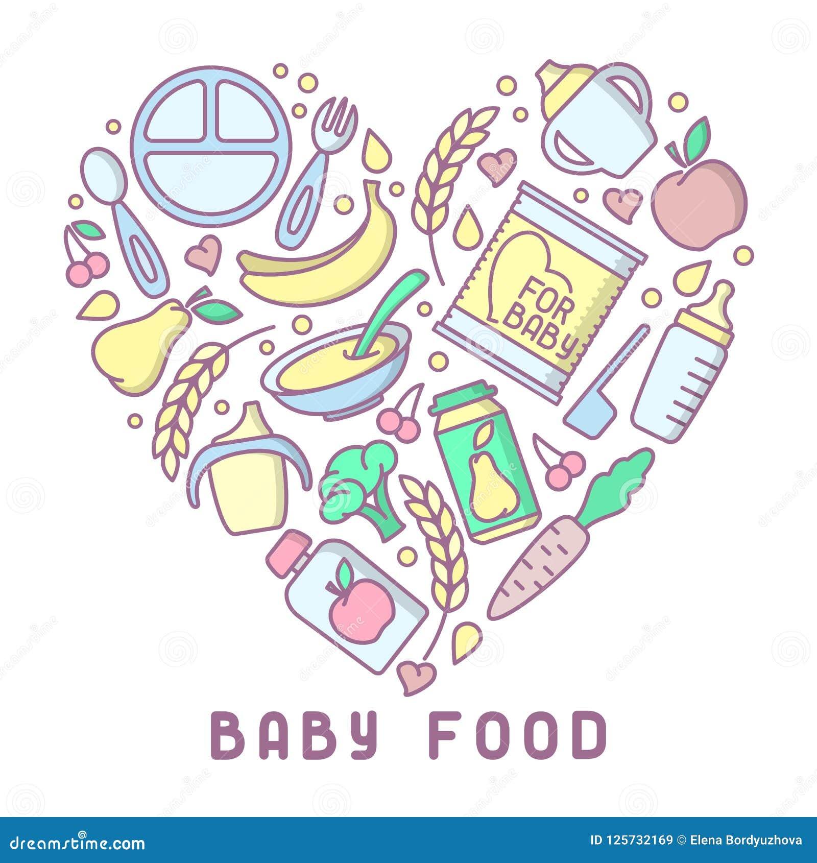 Carte d aliment pour bébé