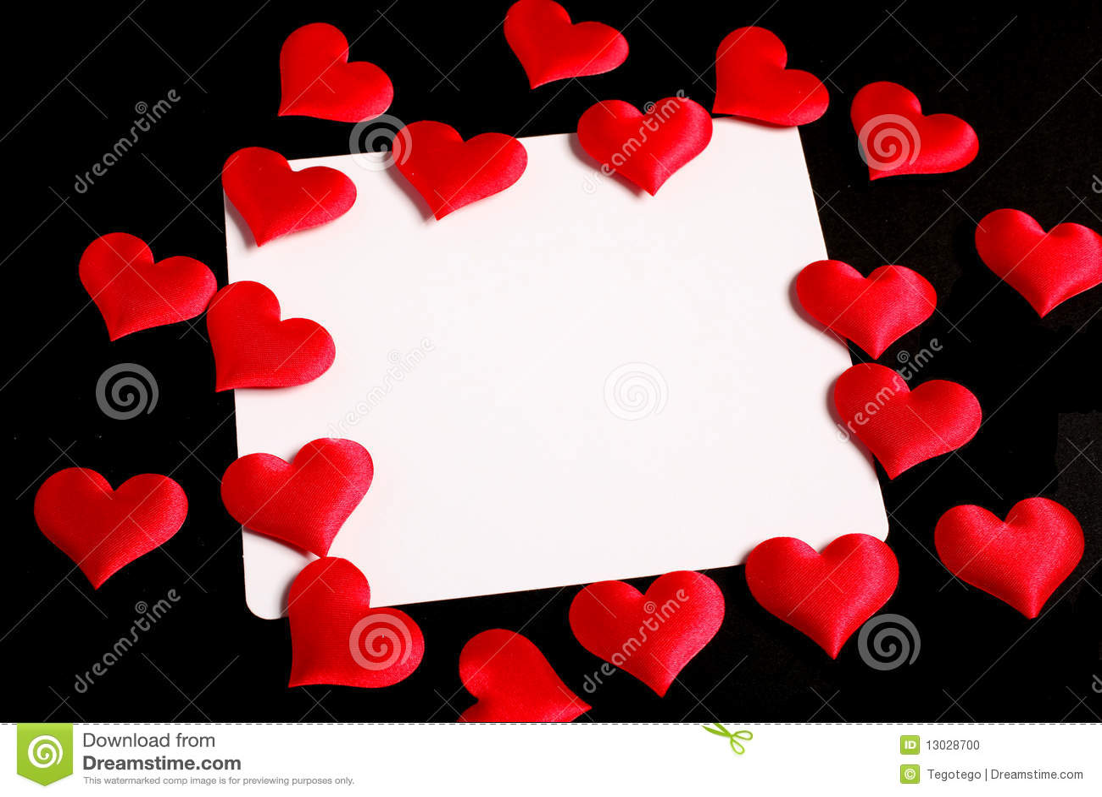 Carte d 39 amour avec les coeurs rouges photo stock image 13028700 - Carte d amour ...