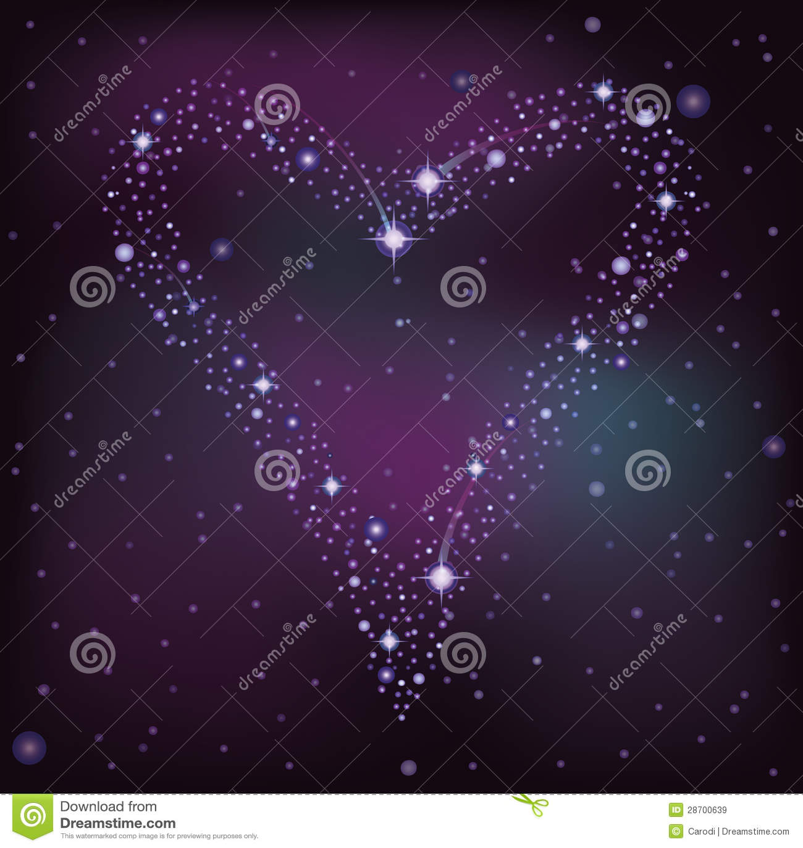 Carte d 39 amour coeur des toiles images libres de droits image 28700639 - Carte d amour ...