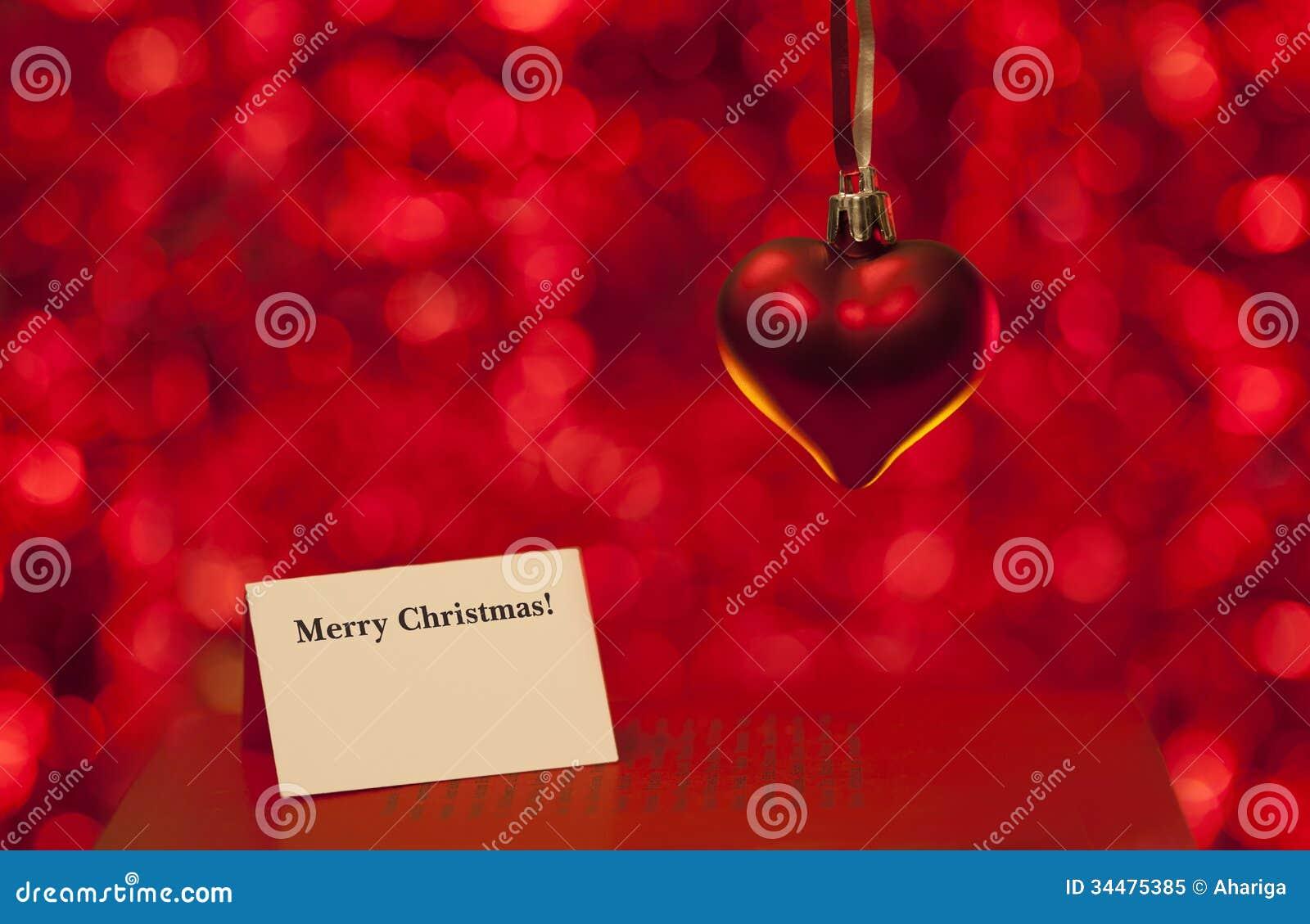 Carte d 39 amour de joyeux no l image stock image 34475385 - Carte d amour ...