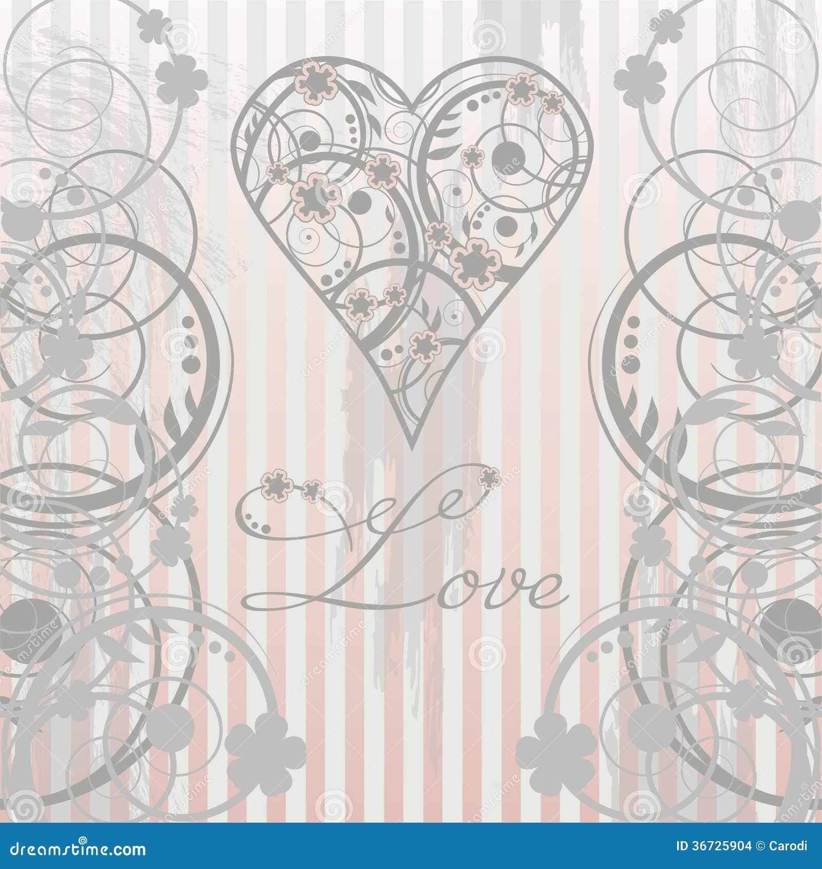 Carte d amour de vintage