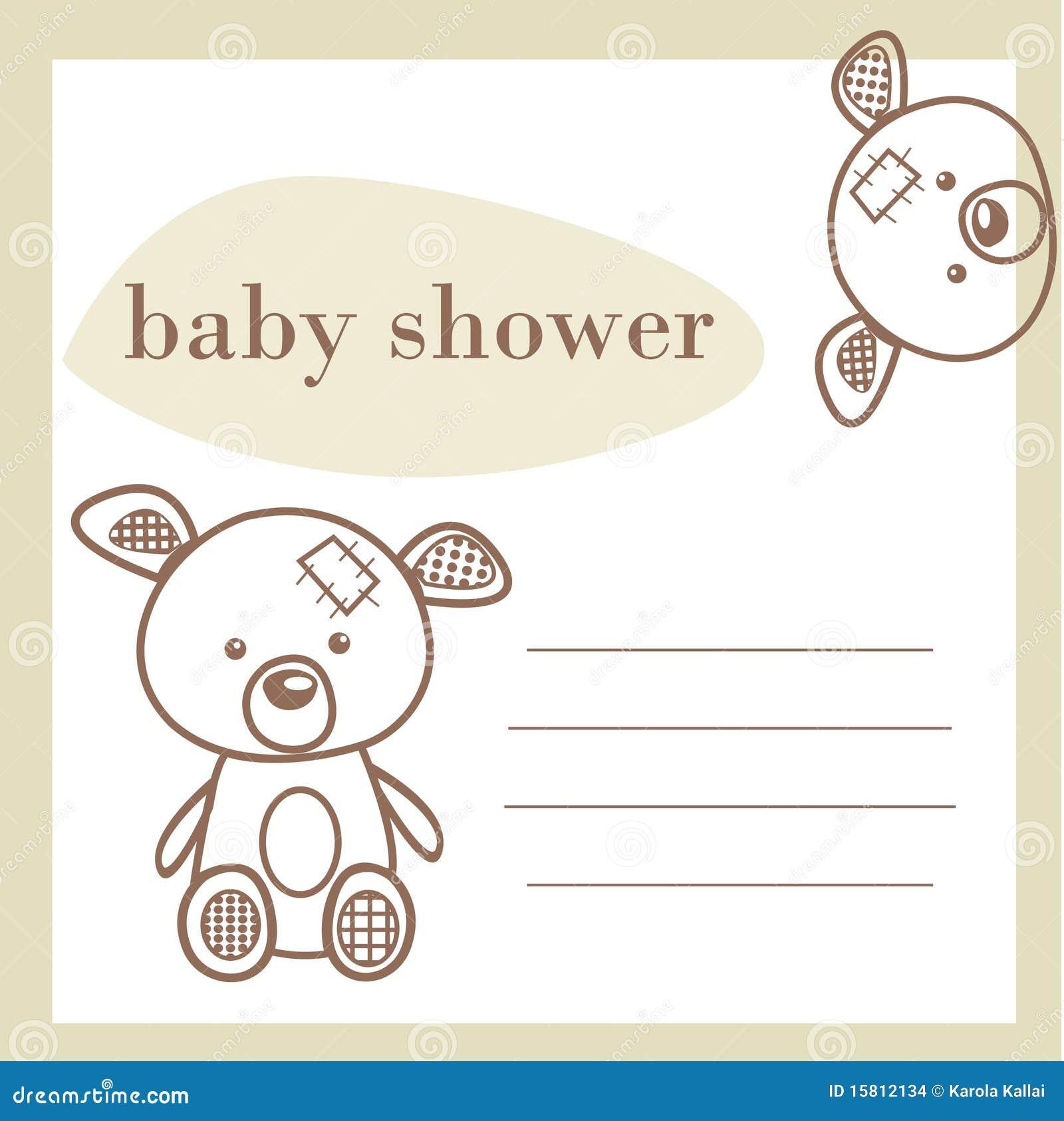 Carte d annonce de douche de chéri