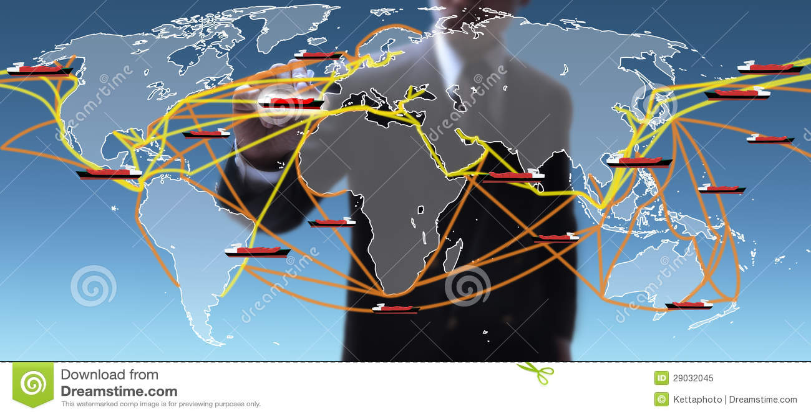 Carte d artères d expédition du monde