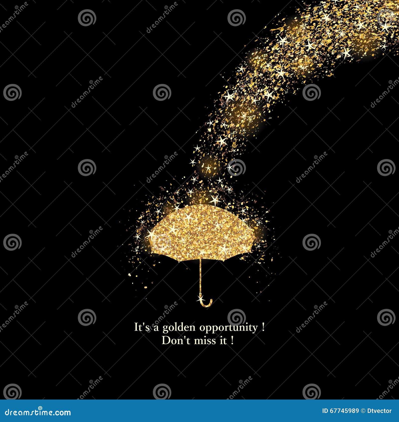 Carte d or de baisse de pluie de giltter