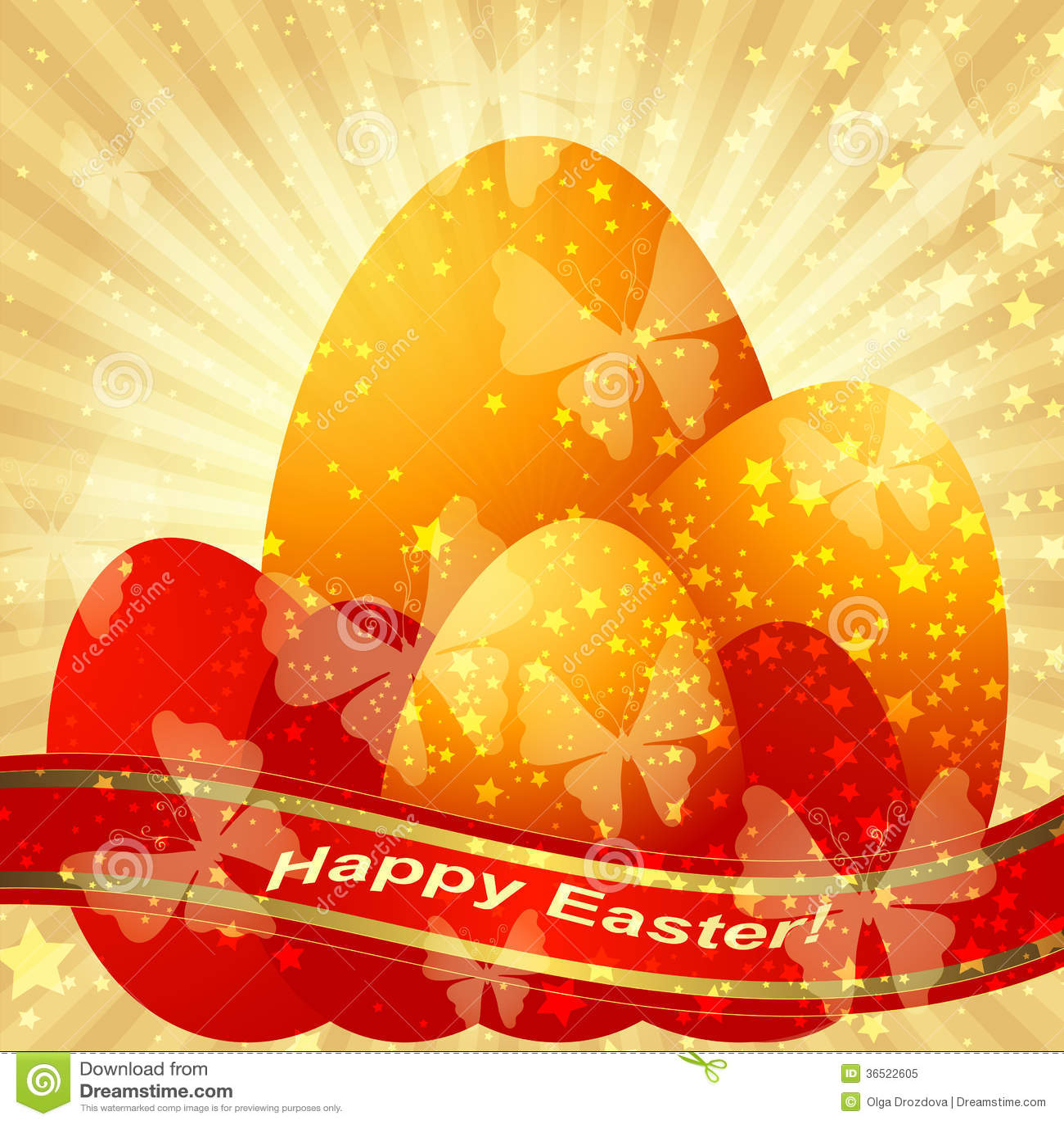Carte d or de salutation de Pâques