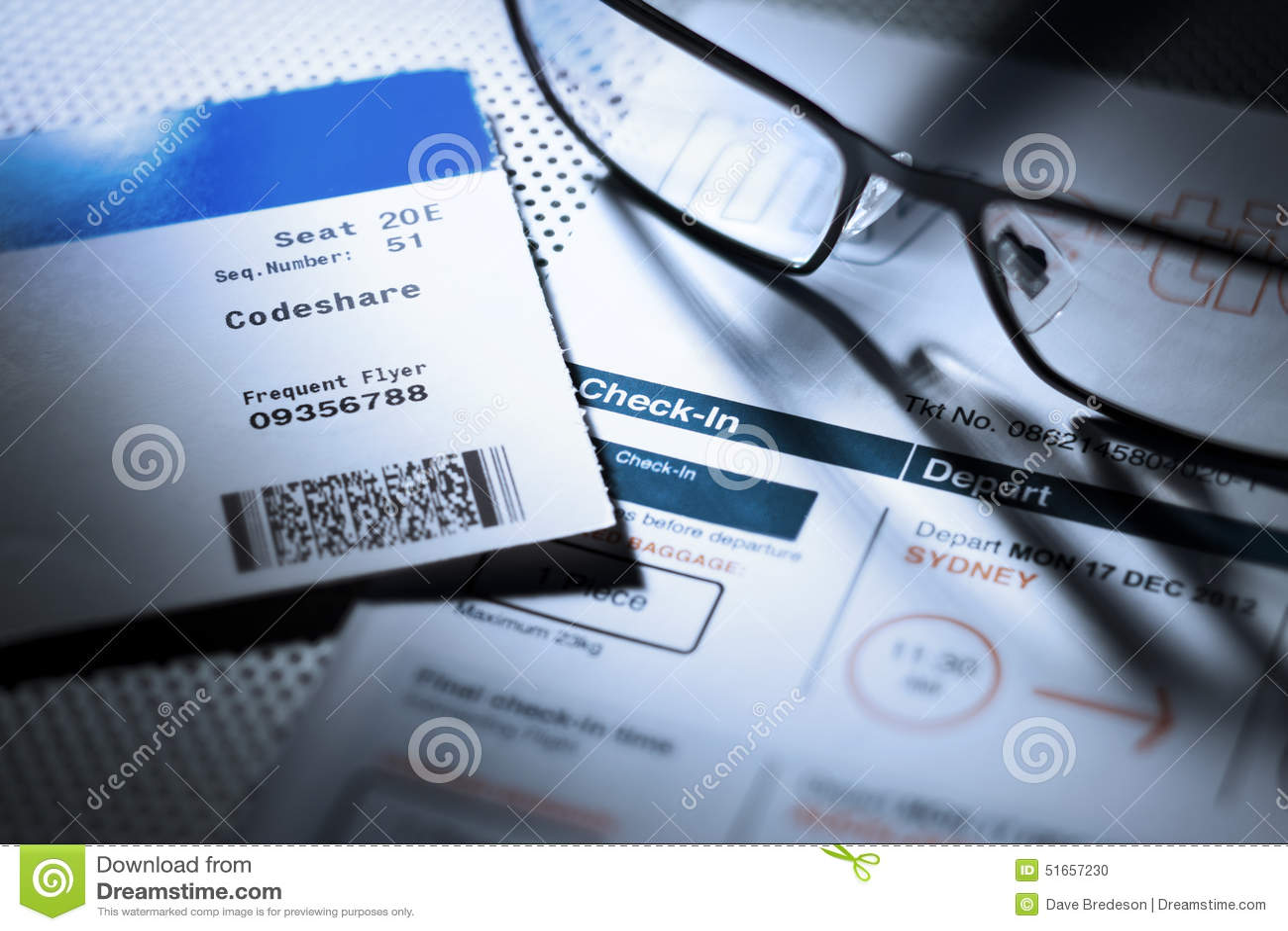 Carte d embarquement de billet d avion