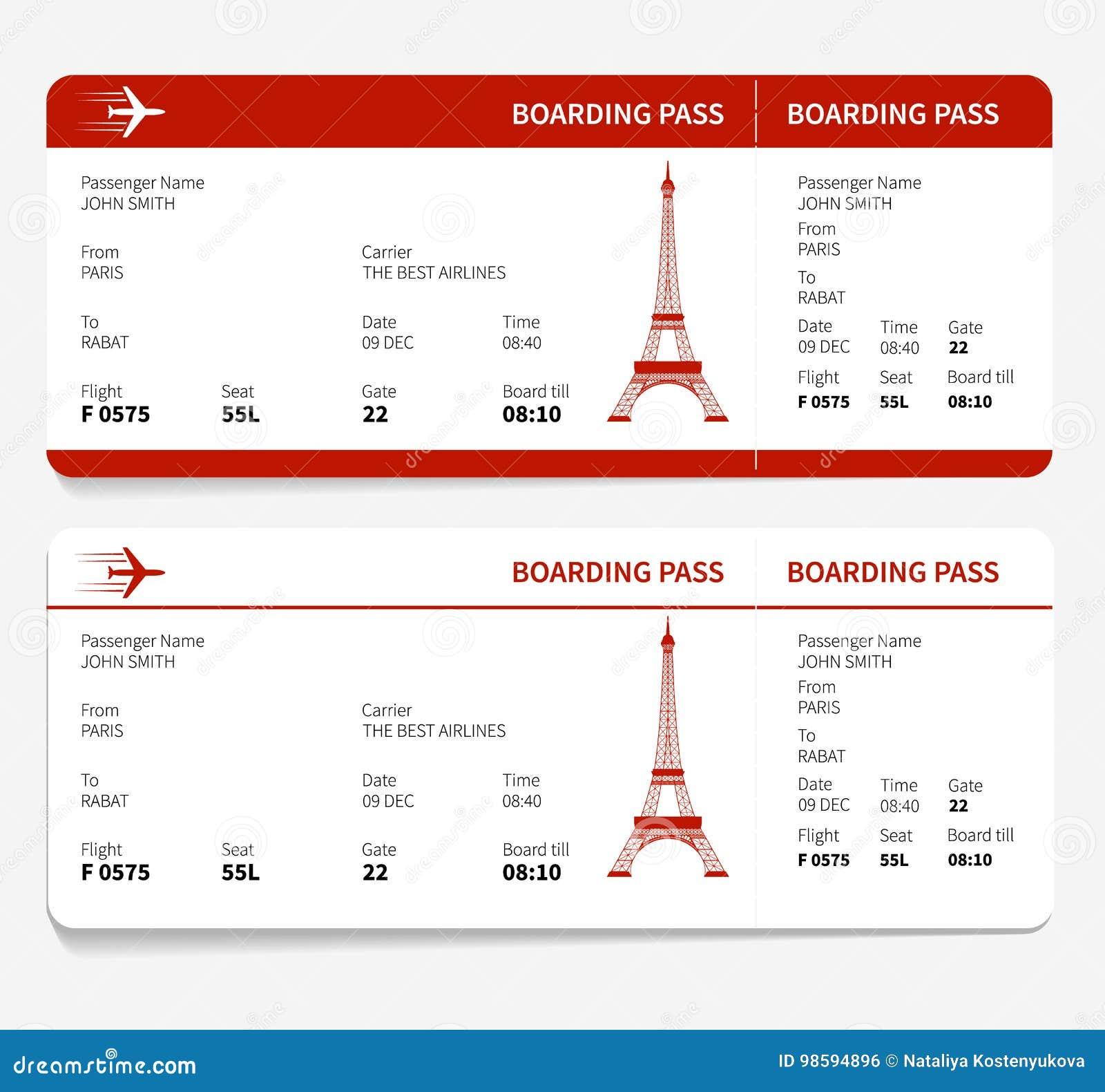 Carte d embarquement rouge