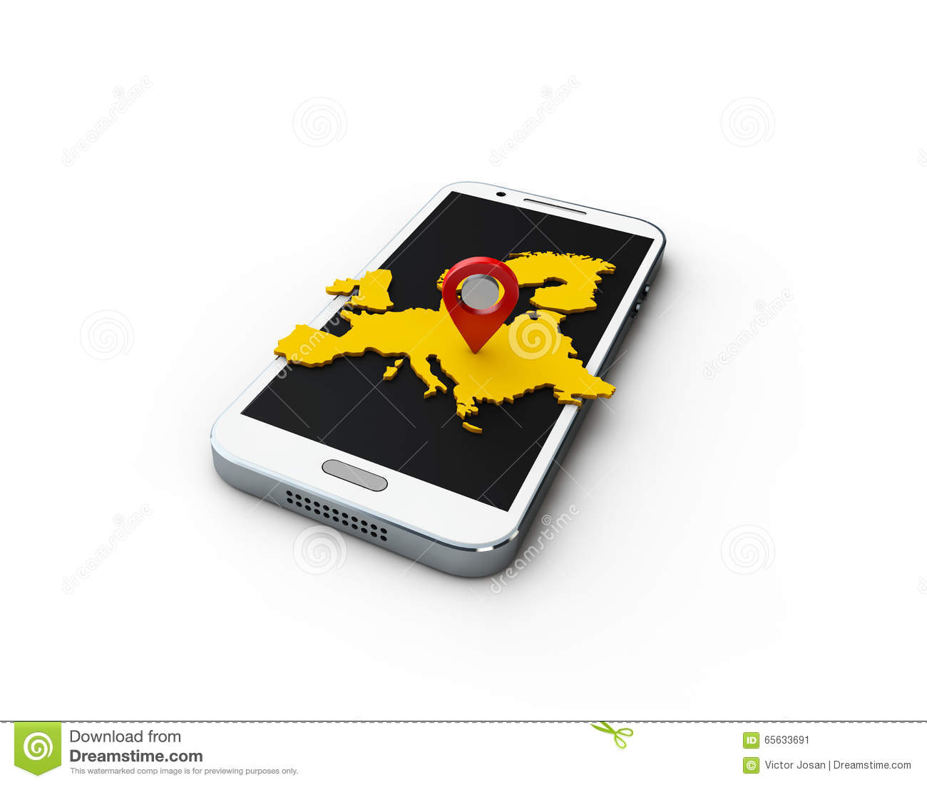 Carte d Europas de l application 3d sur le fond blanc