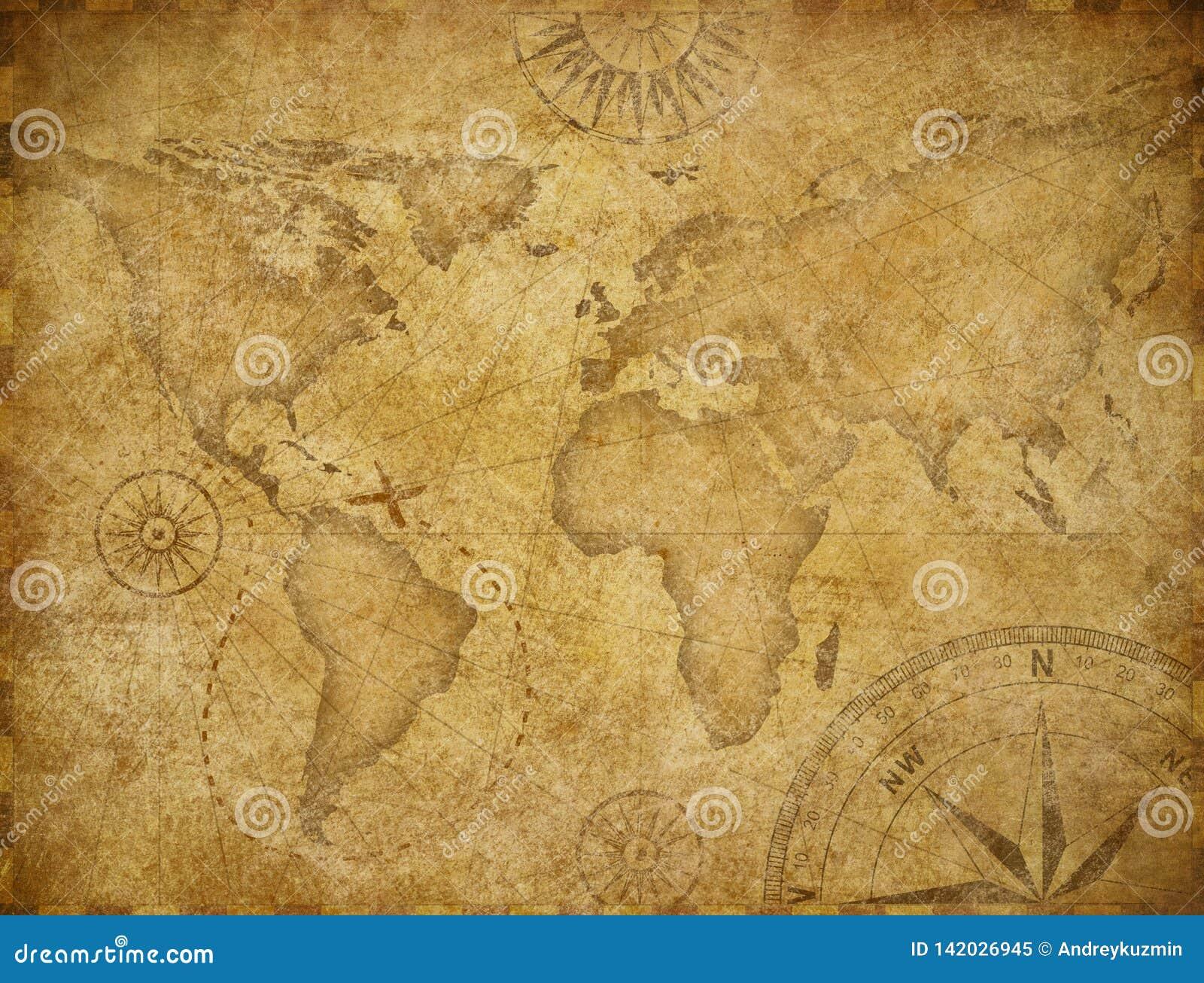 Carte d exploration de Vieux Monde basée sur l image meublée par la NASA