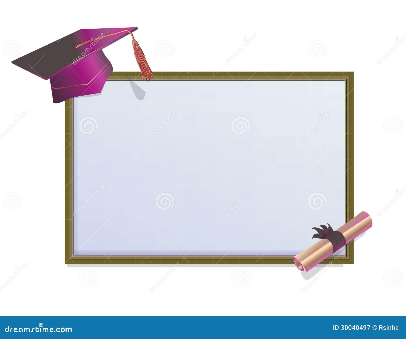 Carte D Invitation D Obtention Du Diplome Avec Des Mortiers