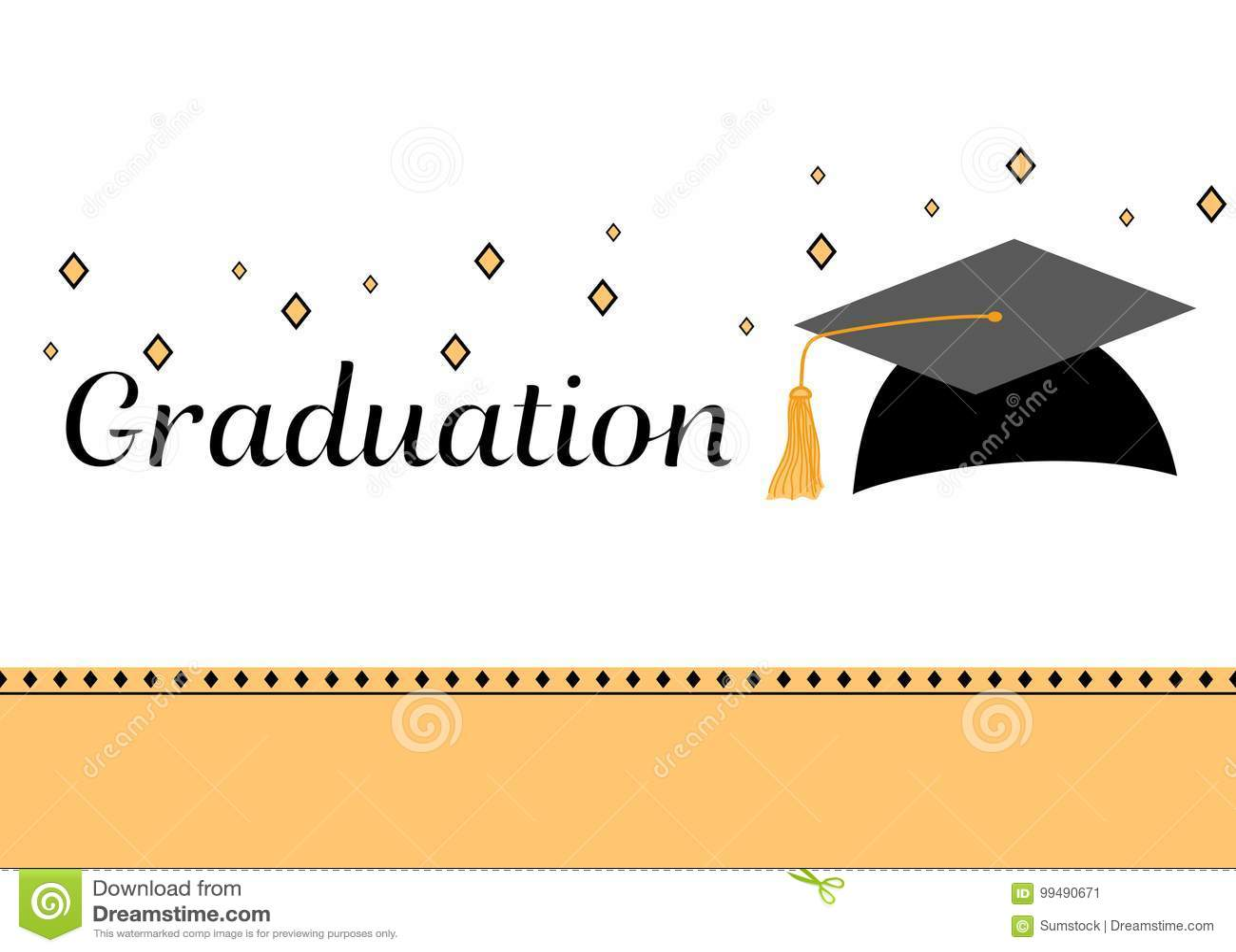 Carte D Invitation De Fete De Remise Des Diplomes Illustration De
