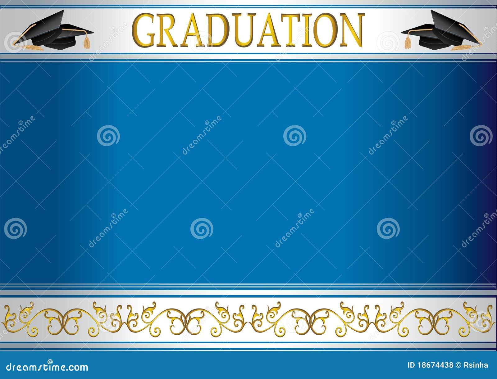Carte D Invitation De Graduation Avec Des Mortiers Illustration De