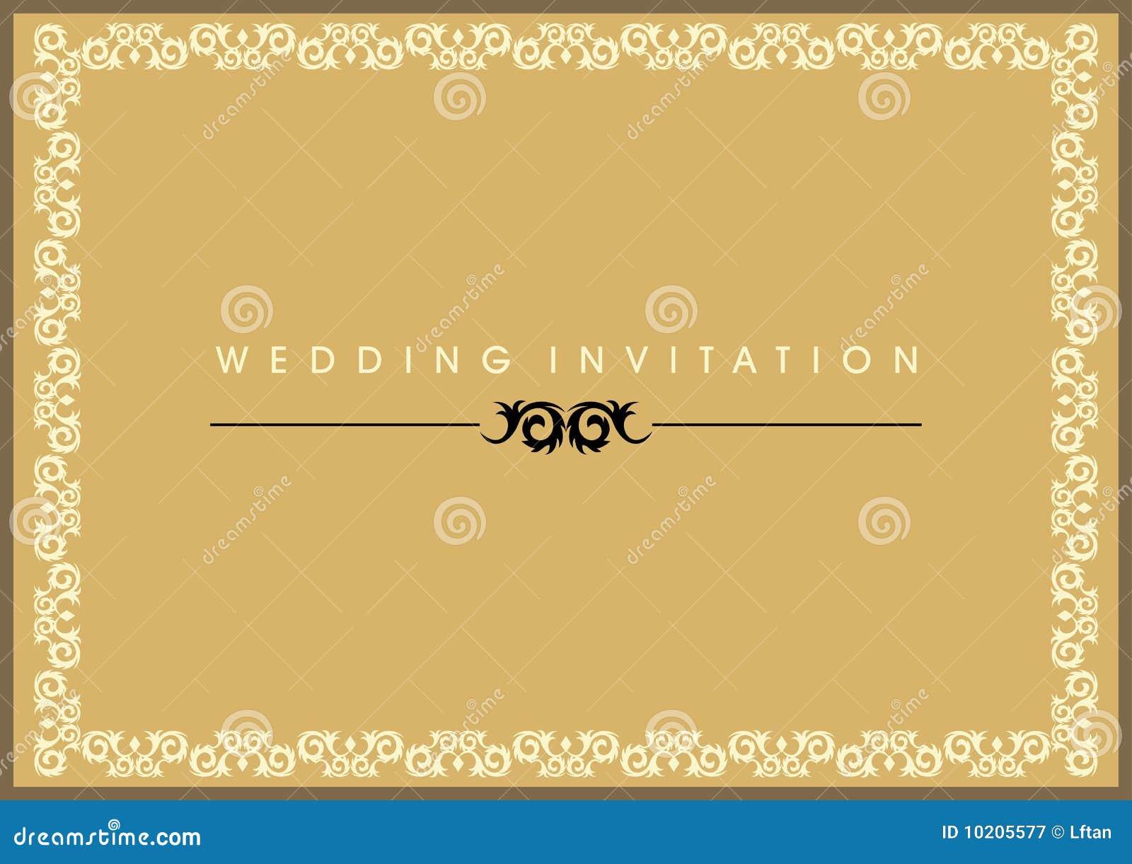carte d 39 invitation de mariage photographie stock libre de. Black Bedroom Furniture Sets. Home Design Ideas