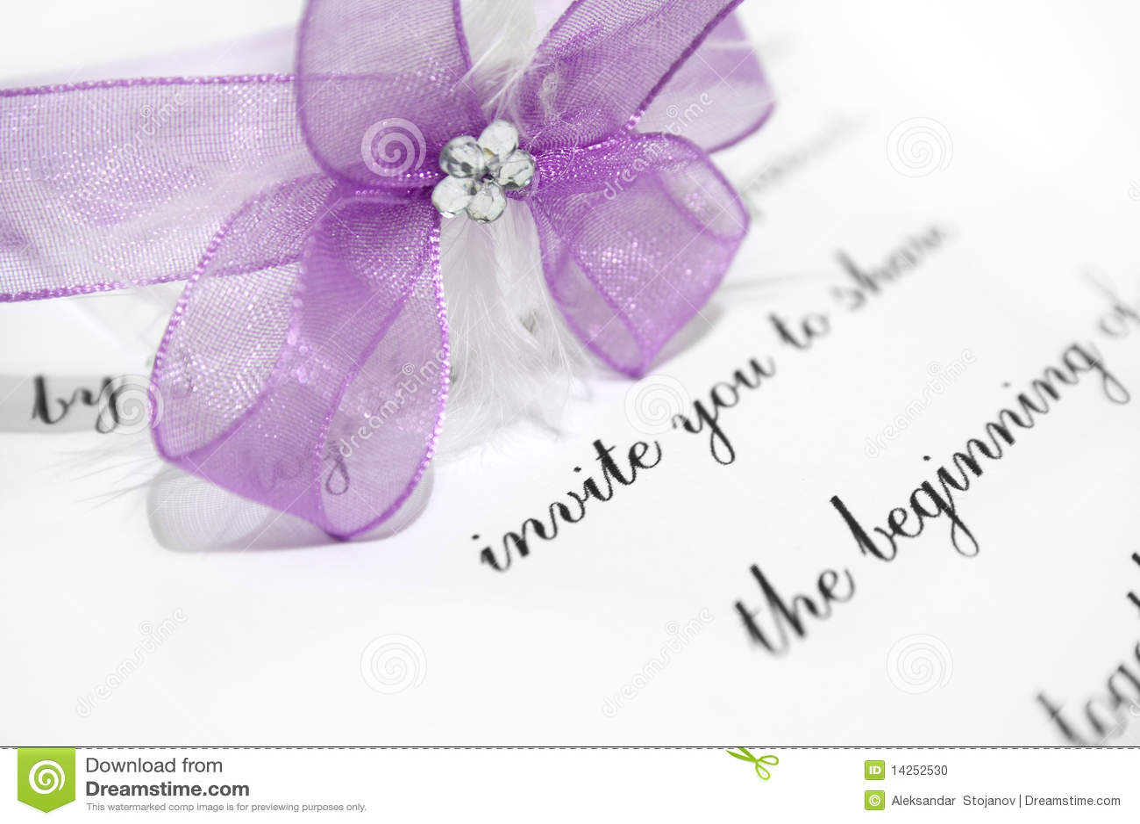 carte d 39 invitation de mariage photo stock image 14252530. Black Bedroom Furniture Sets. Home Design Ideas