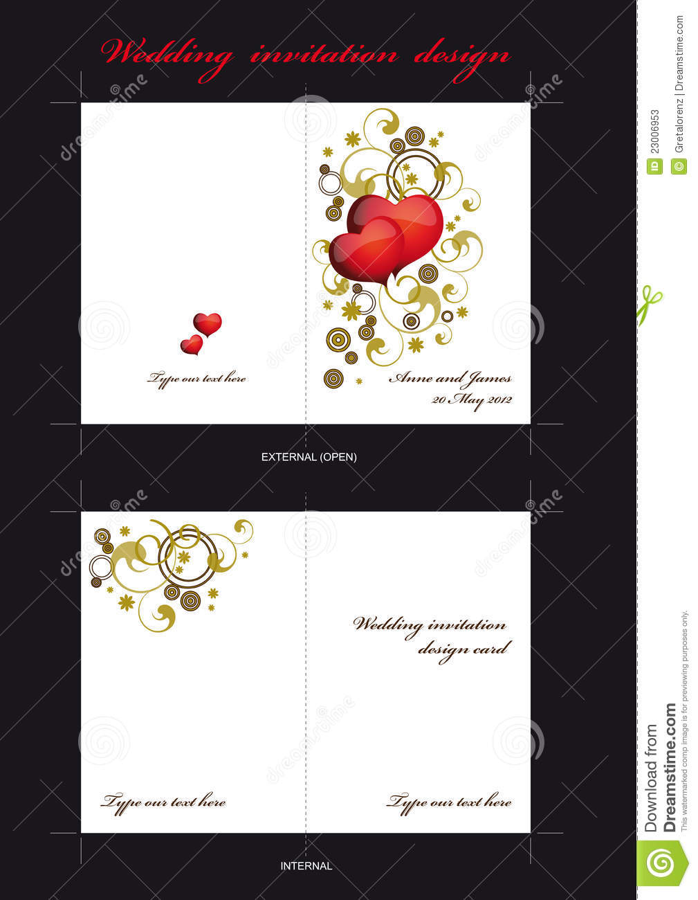 carte d 39 invitation de mariage photos stock image 23006953. Black Bedroom Furniture Sets. Home Design Ideas