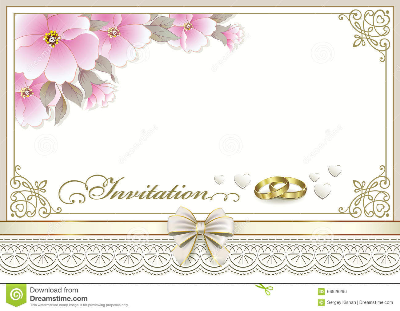 carte d 39 invitation de mariage illustration de vecteur image 66926290. Black Bedroom Furniture Sets. Home Design Ideas