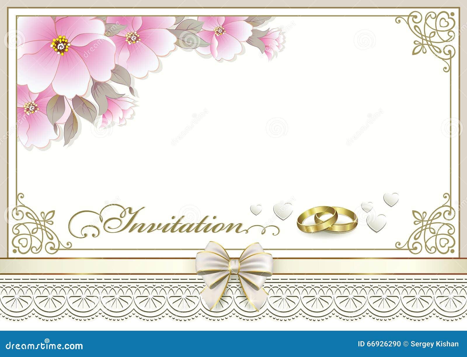 carte d 39 invitation de mariage illustration de vecteur. Black Bedroom Furniture Sets. Home Design Ideas