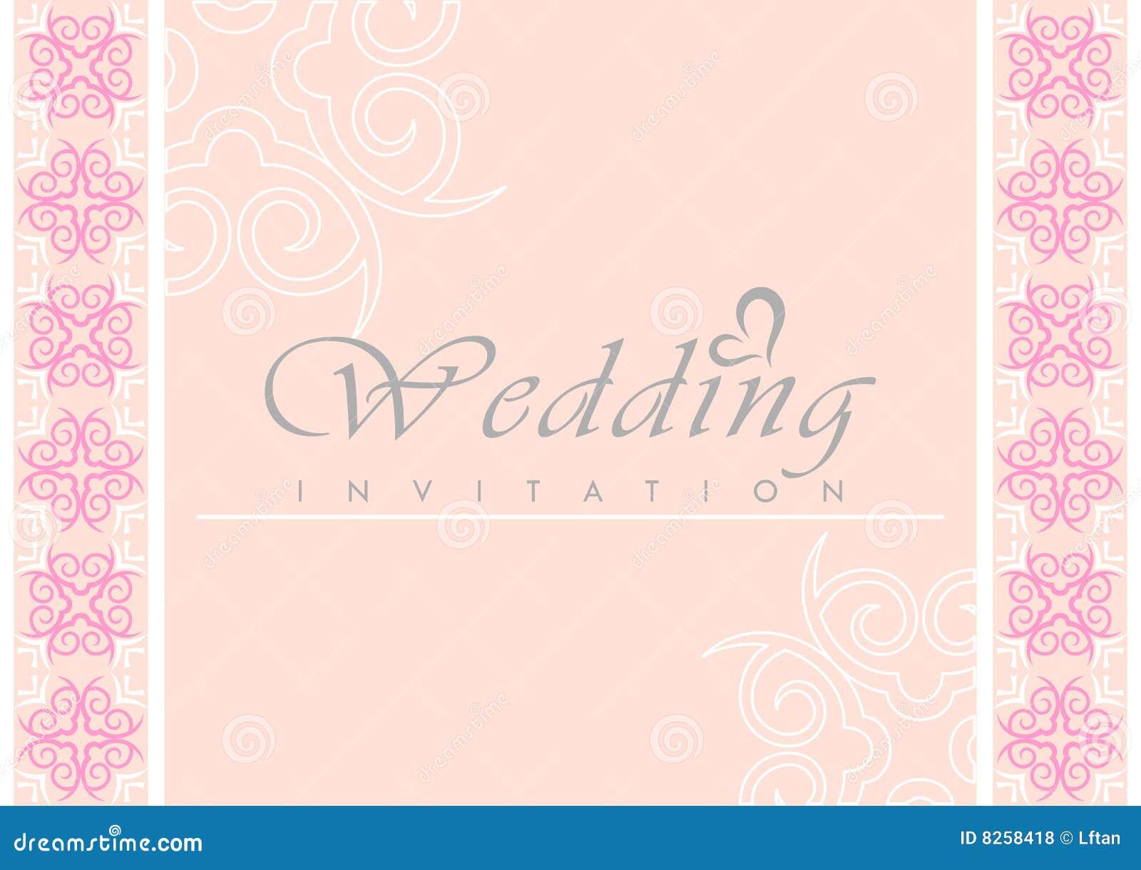 carte d 39 invitation de mariage photos libres de droits image 8258418. Black Bedroom Furniture Sets. Home Design Ideas