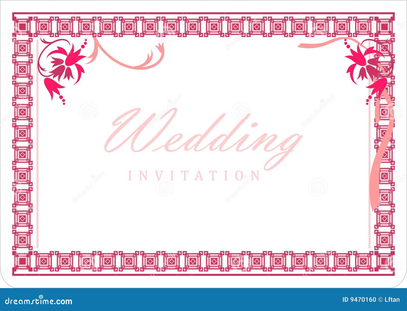 carte d 39 invitation de mariage photo stock image 9470160. Black Bedroom Furniture Sets. Home Design Ideas