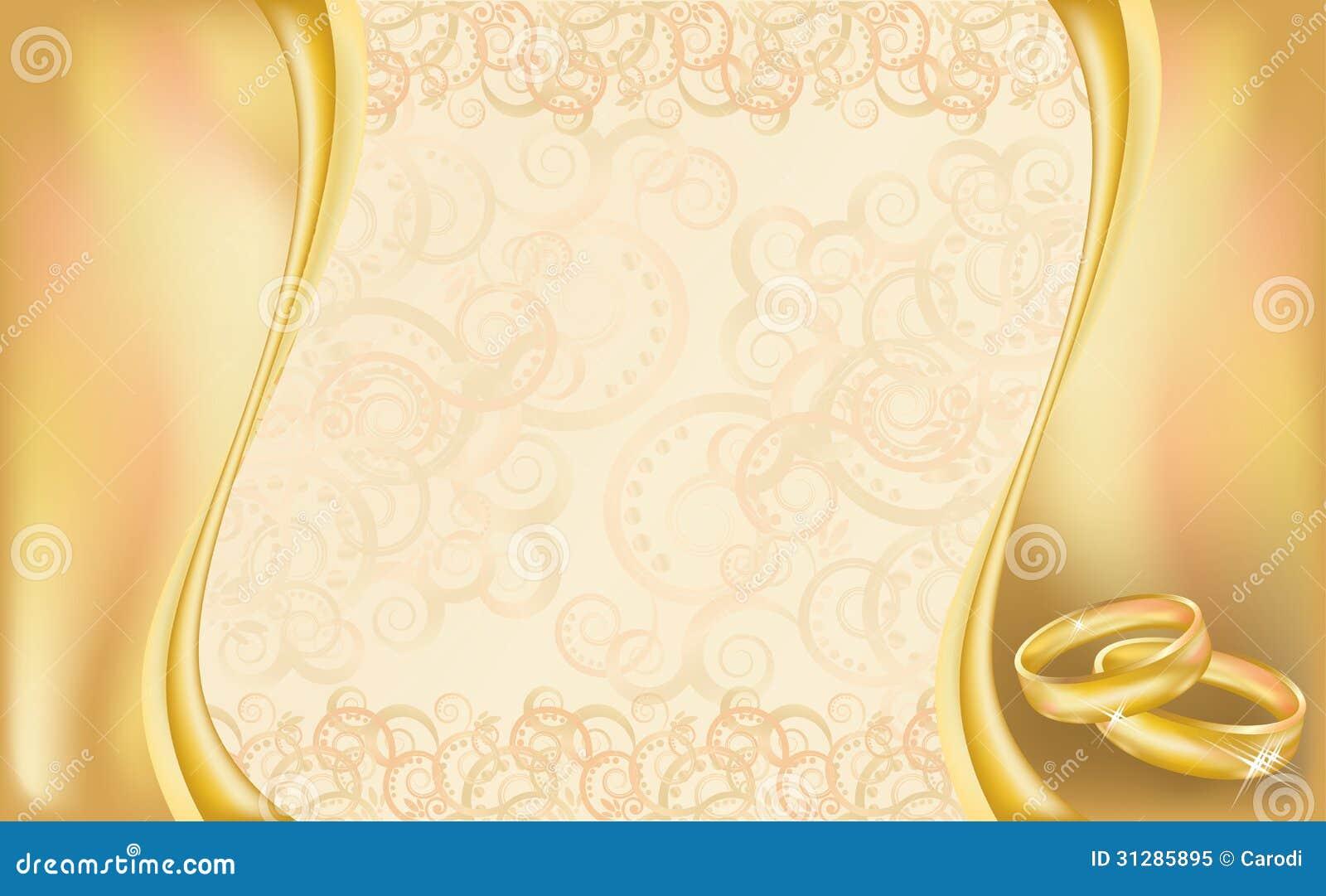 carte d 39 invitation de mariage avec les anneaux et la flor. Black Bedroom Furniture Sets. Home Design Ideas