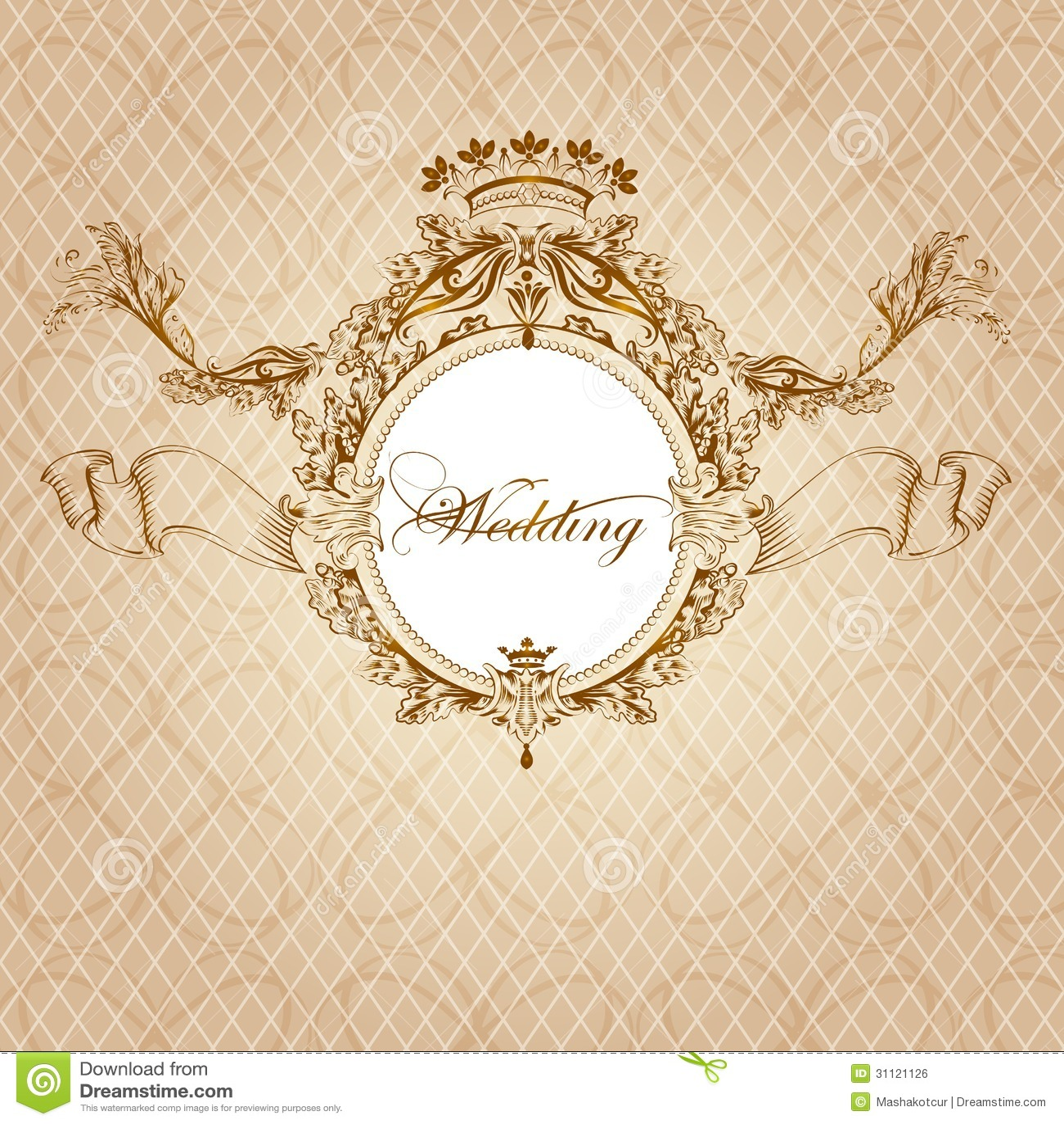 Carte d'invitation mariage vintage