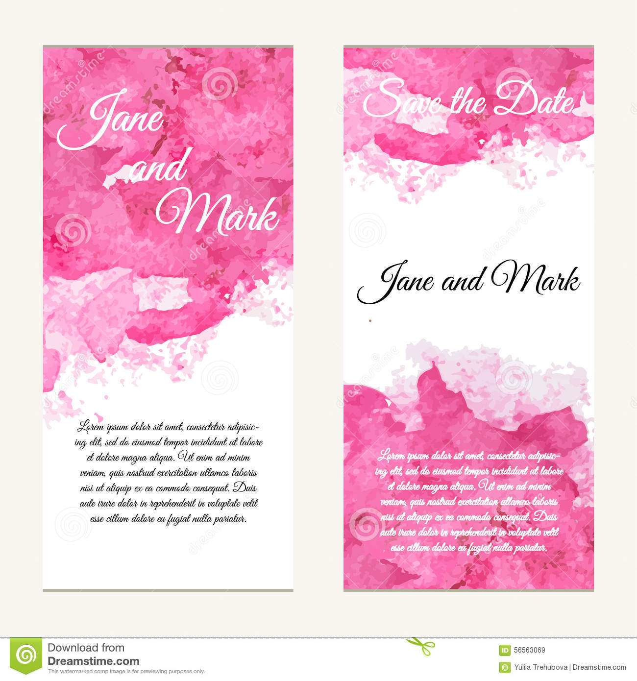 carte d 39 invitation sur le mariage anniversaire fond avec l 39 aquarelle illustration de vecteur. Black Bedroom Furniture Sets. Home Design Ideas